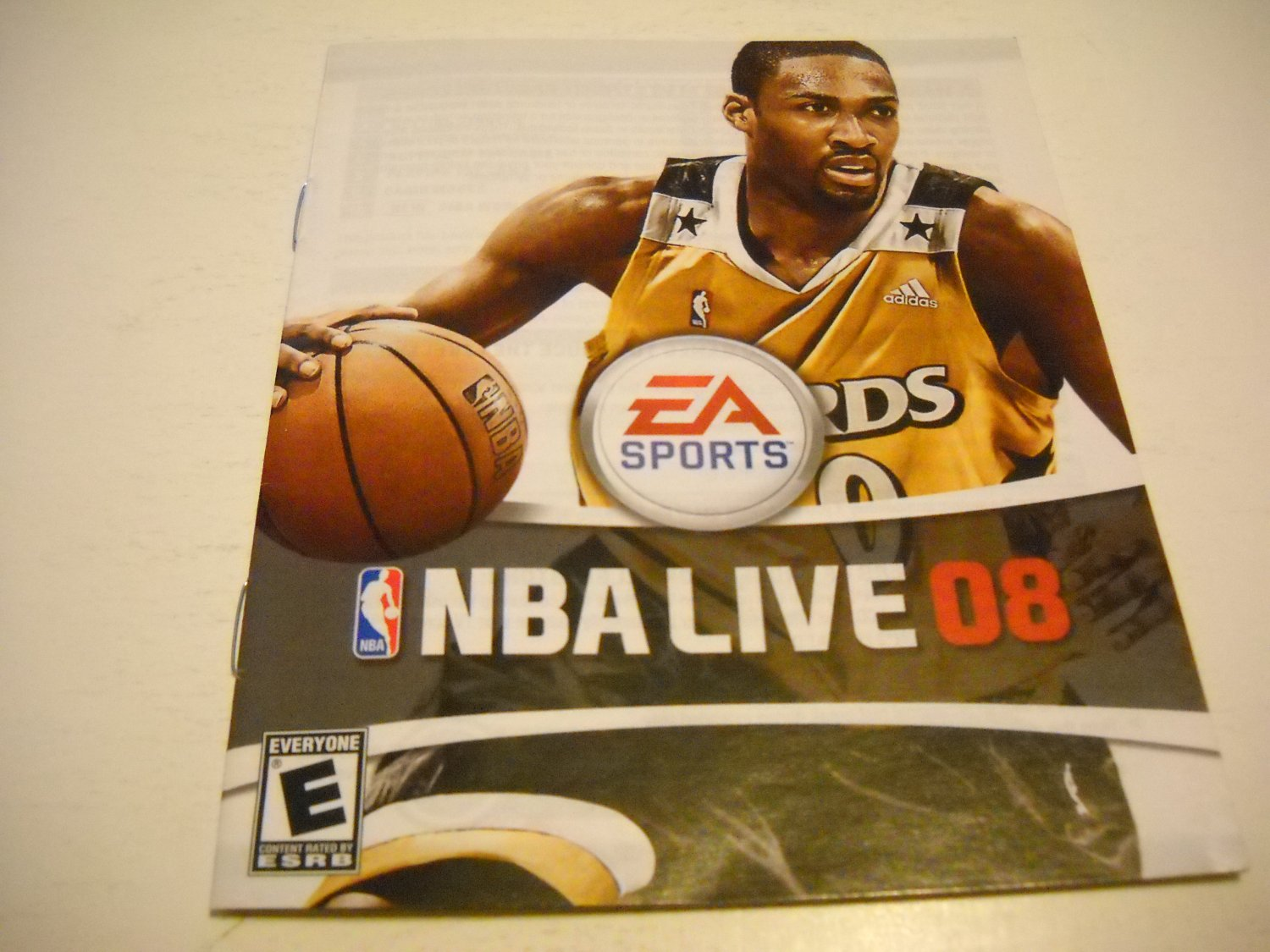 Manual ONLY ~  for NBA Live 08 , PS3