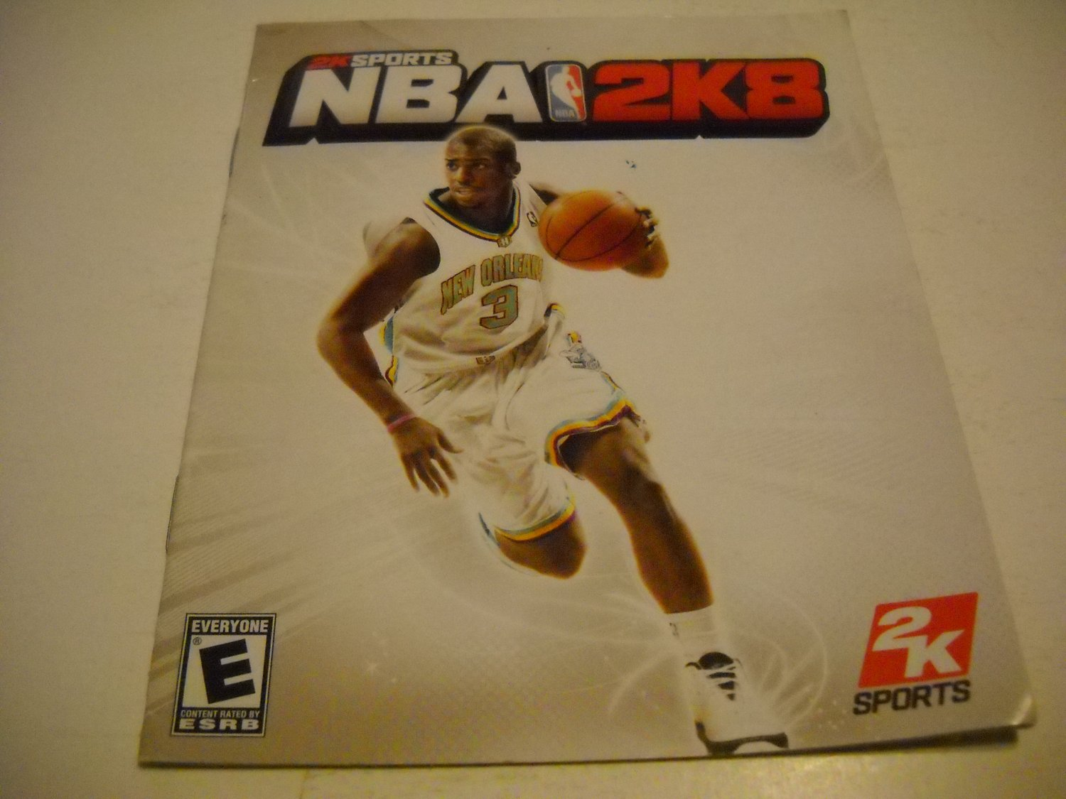 Manual ONLY ~  for NBA 2K8 , PS3
