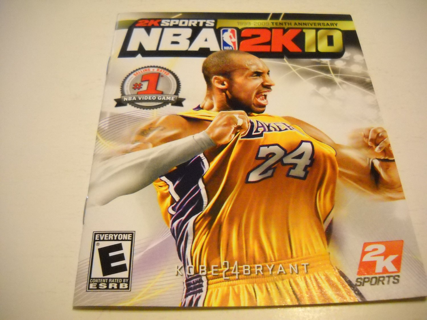 Manual ONLY ~  for NBA 2K10 , PS3