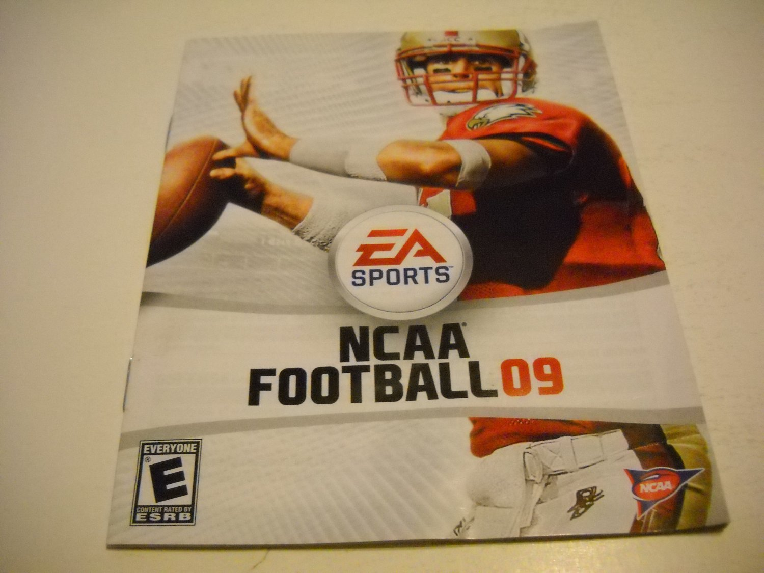 Manual ONLY ~  for NCAA Football 09 , PS3