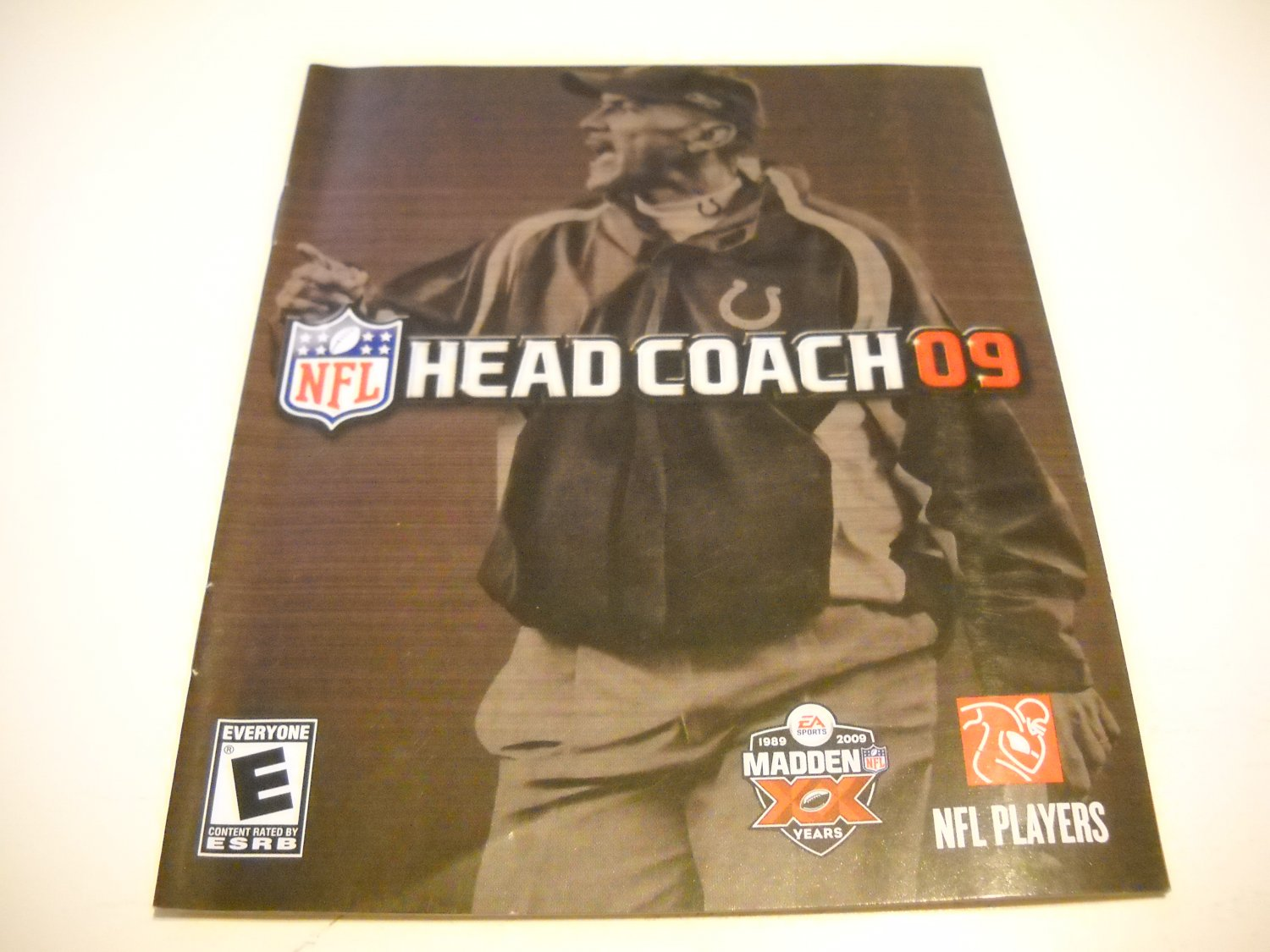 Manual ONLY ~  for NFL Head Coach 09 , PS3