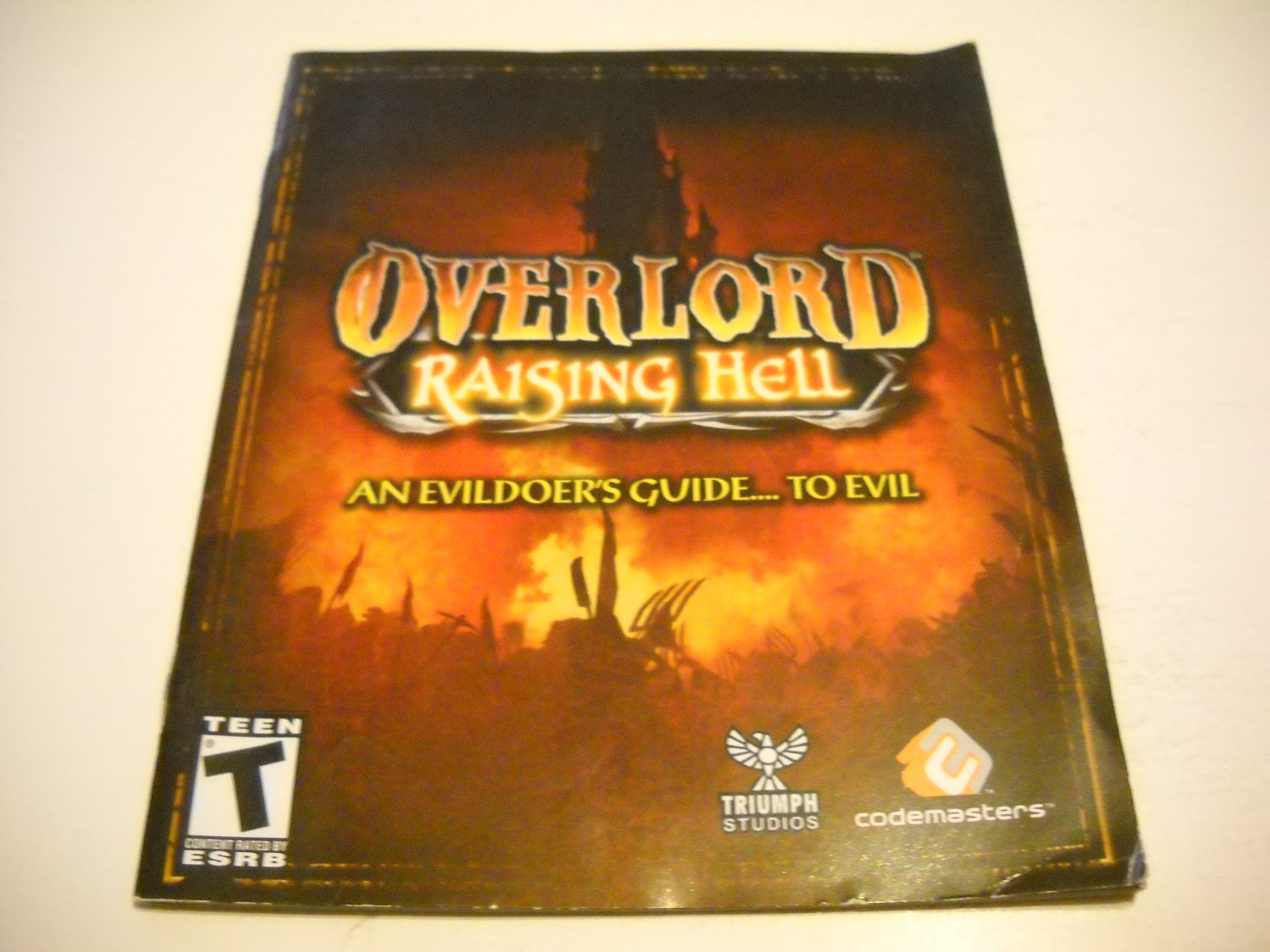 Manual ONLY ~  for Overlord Raising Hell , PS3