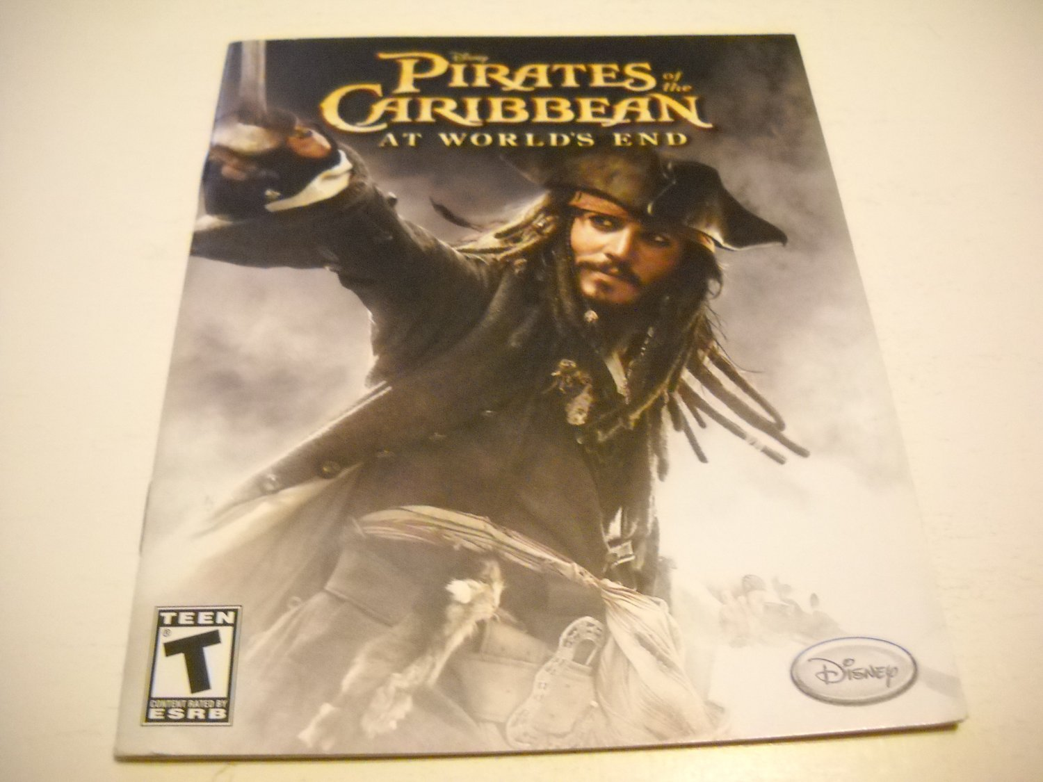 Manual ONLY ~  for Pirates of the Caribbean At World's End , PS3