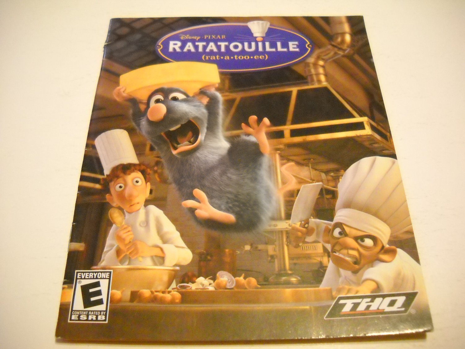 Manual ONLY ~  for Ratatouille , PS3
