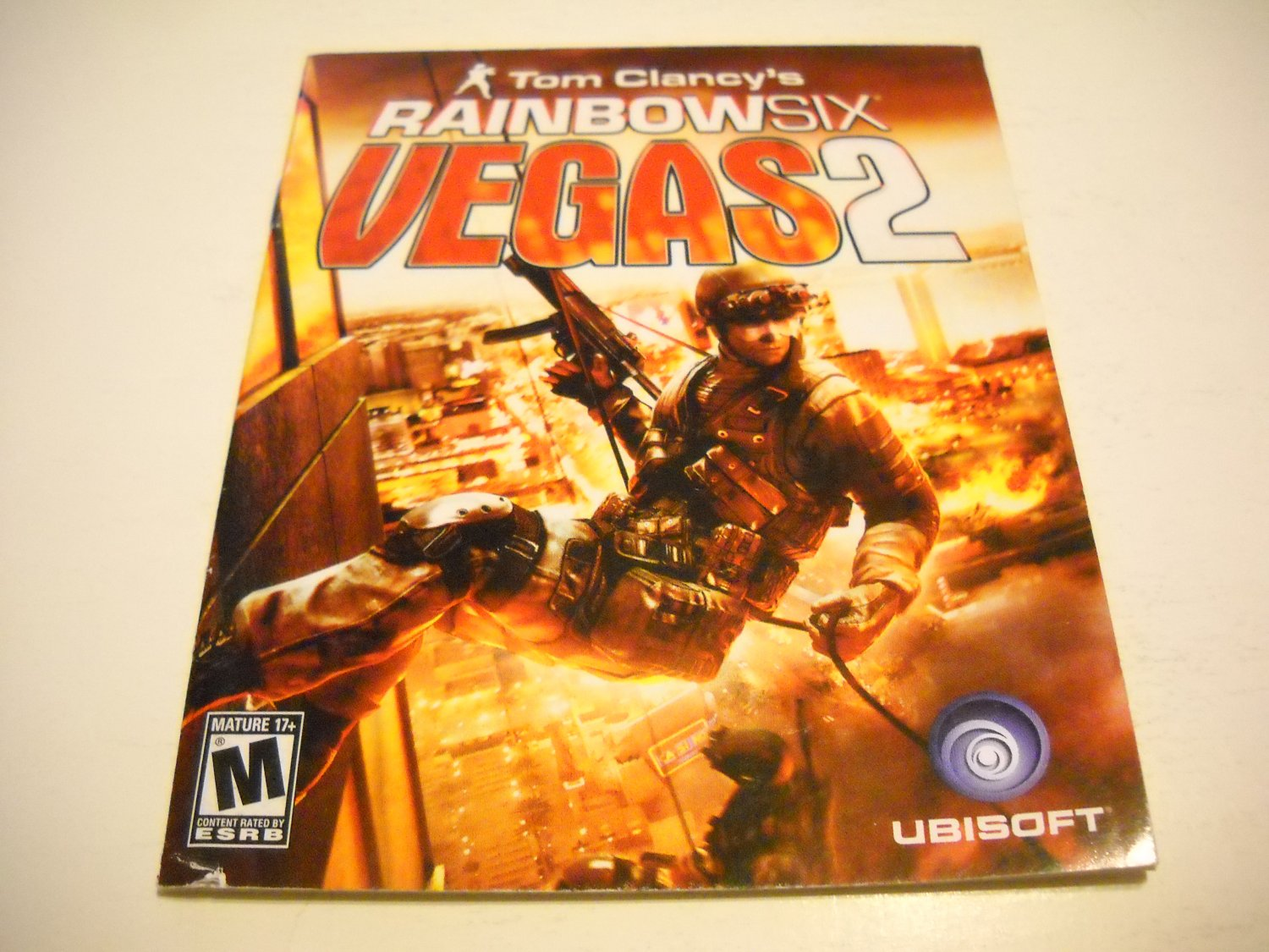 Manual ONLY ~  for Tom Clancy's Rainbow Six Vegas 2 , PS3