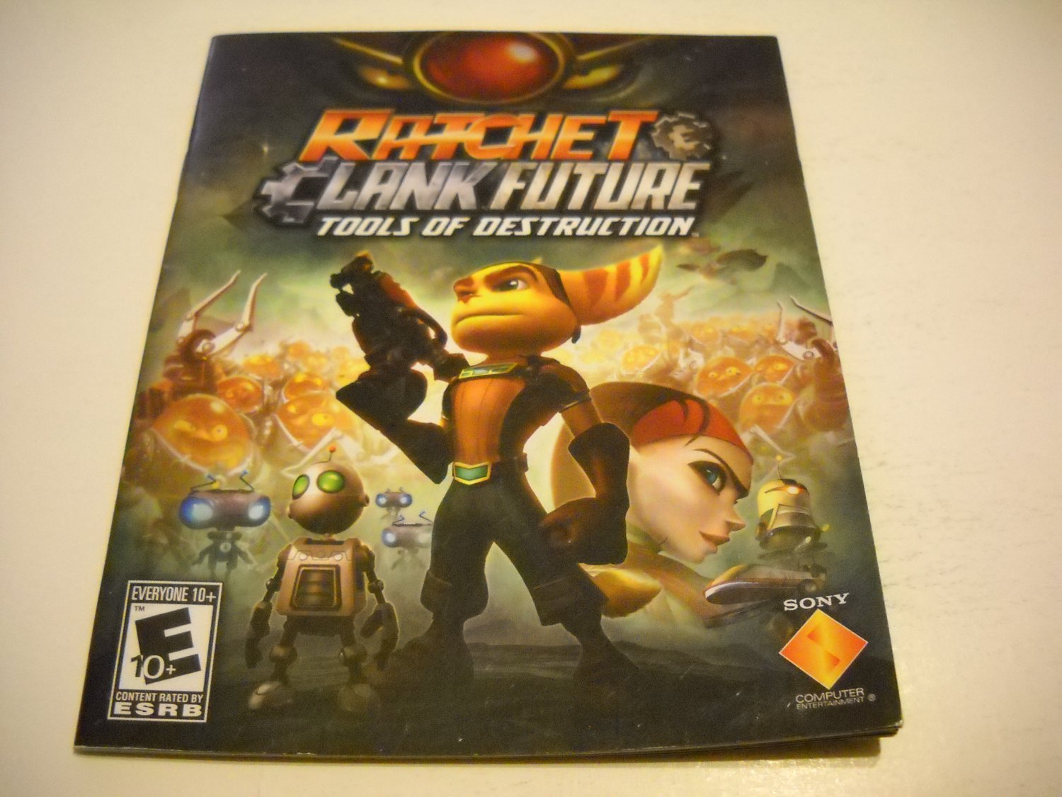 Manual ONLY ~  for Ratchet and Clank Future Tools of Destruction , PS3