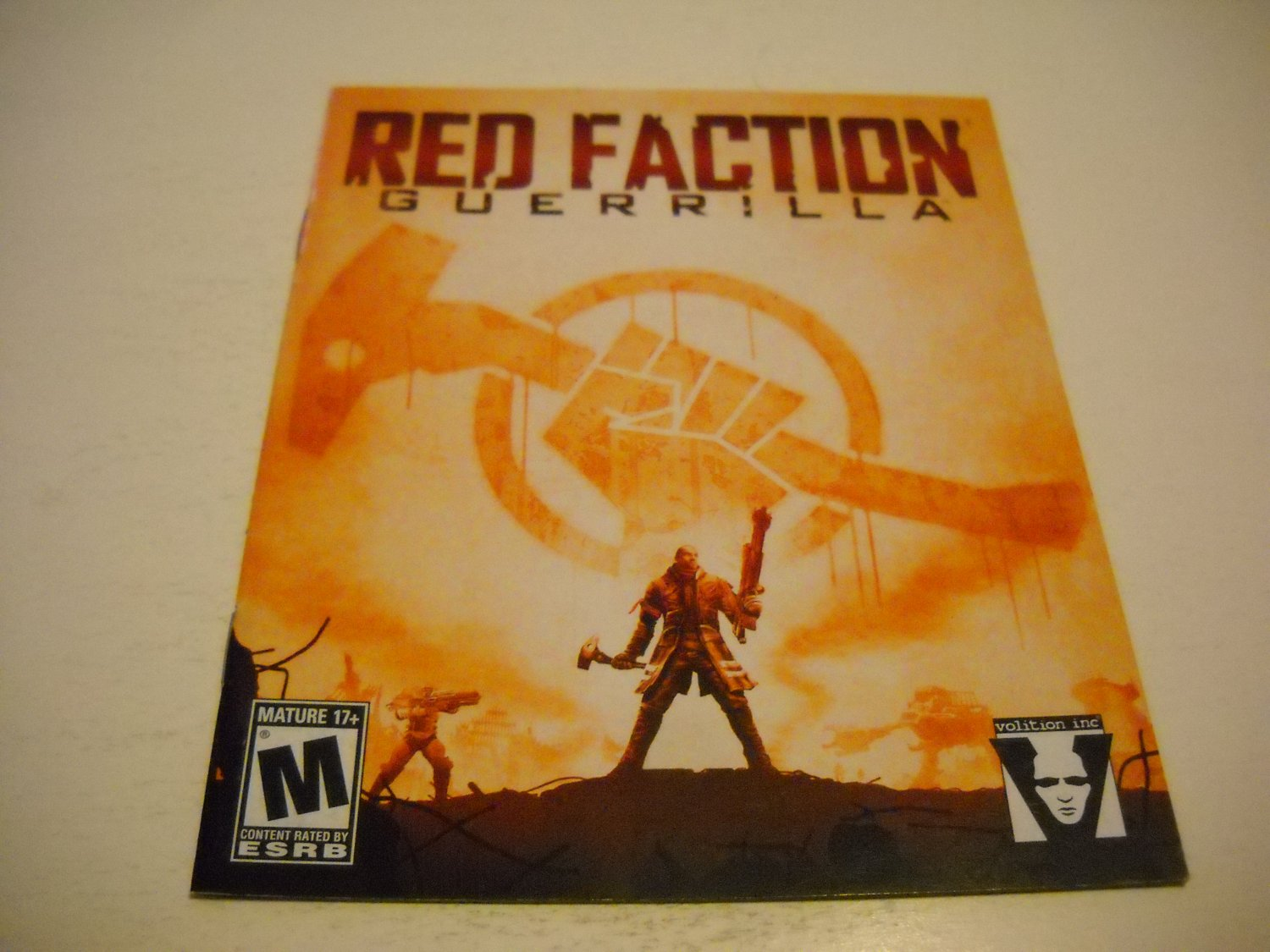 Manual ONLY ~  for Red Faction Guerrilla , PS3