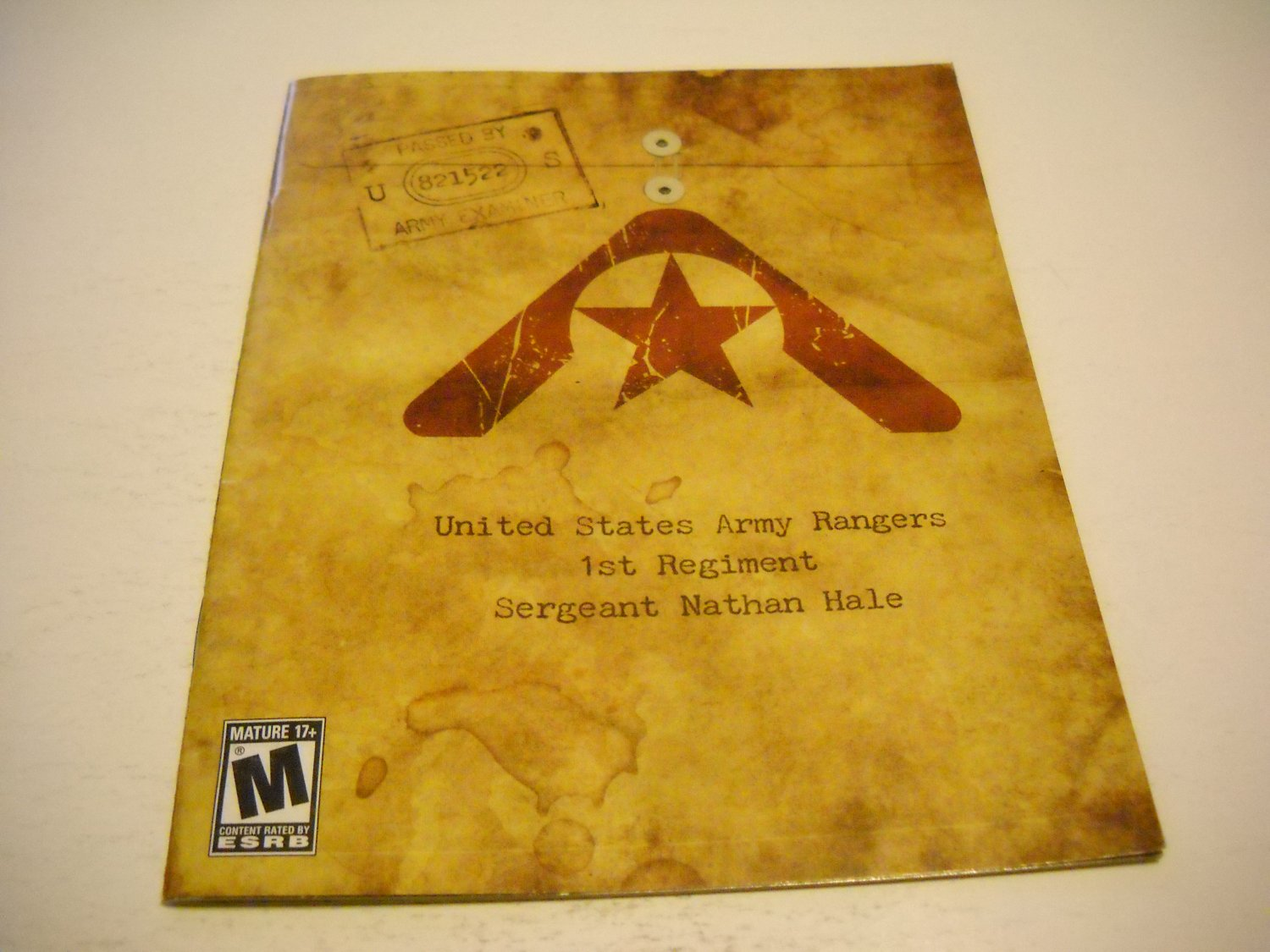 Manual ONLY ~  for Resistance , PS3