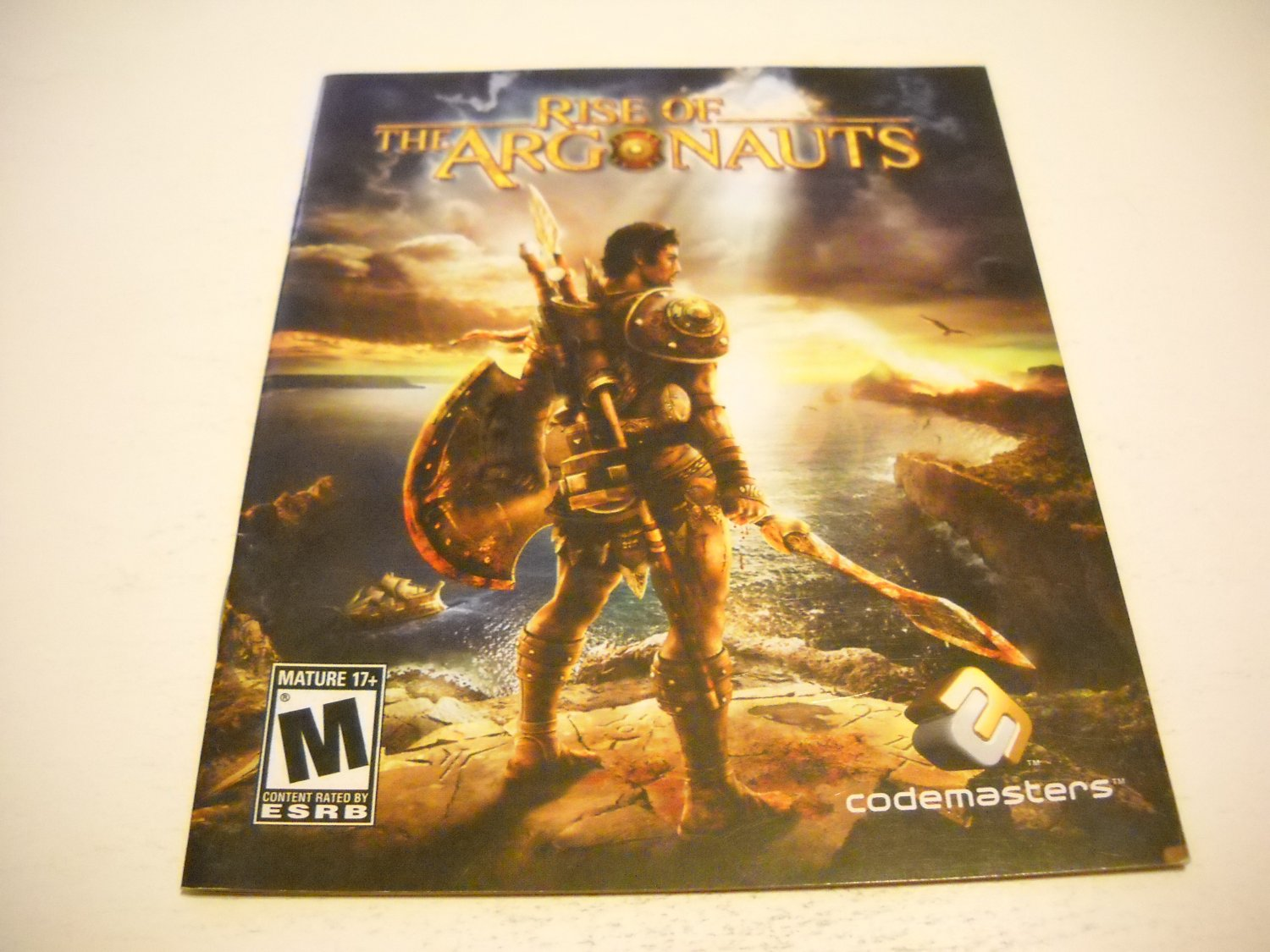 Manual ONLY ~  for Rise of the Argonauts , PS3