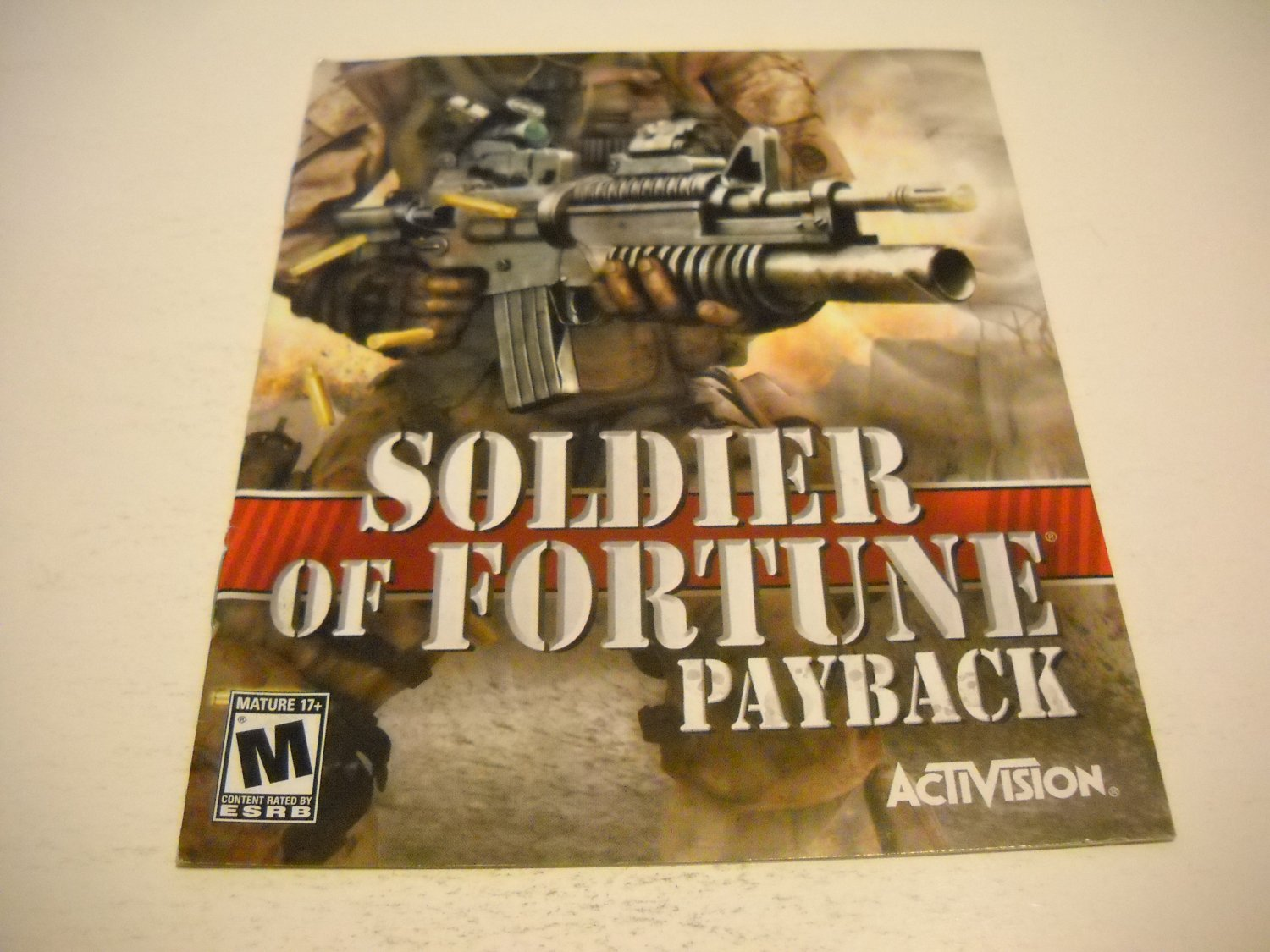 Manual ONLY ~  for Soldier of Fortune Payback , PS3
