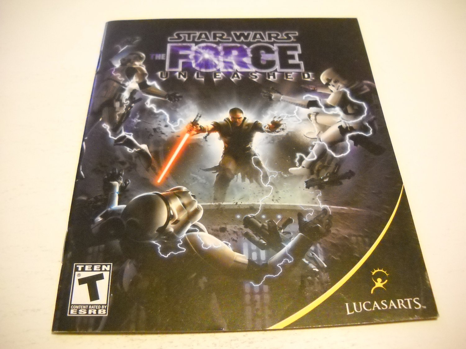 Manual ONLY ~  for Star Wars The Force Unleashed , PS3