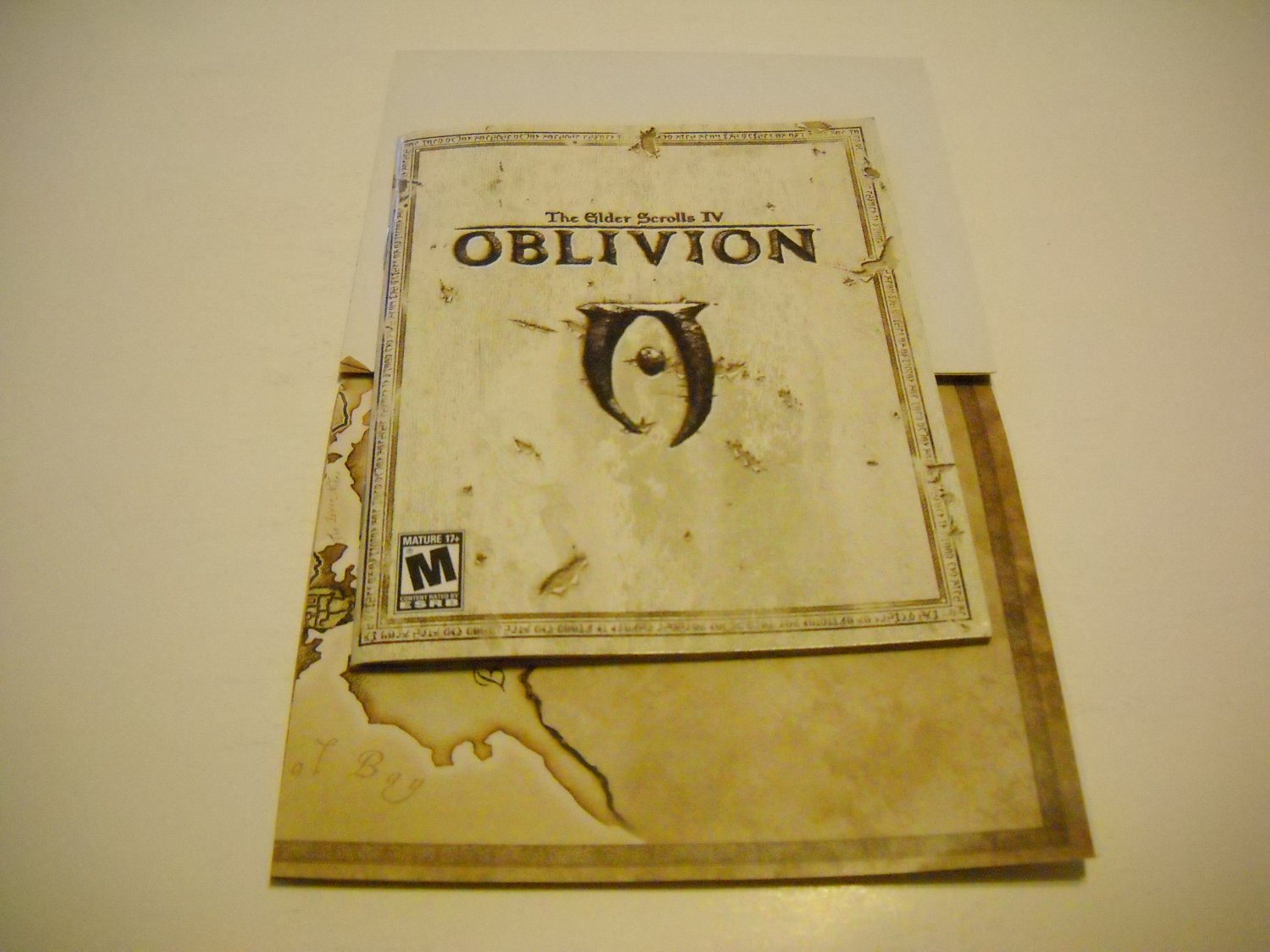 Manual ONLY ~  and map for The Elder Scrolls VI / 4 Oblivion , PS3