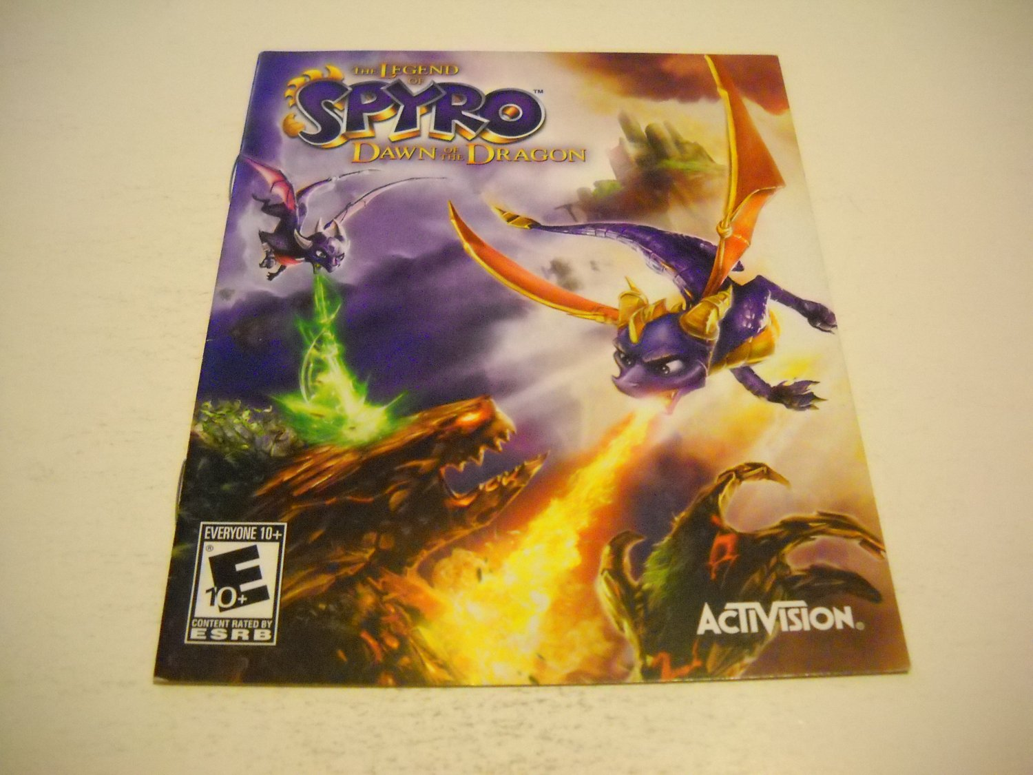 Manual ONLY ~  for The Legend of Spyro Dawn of the Dragons , PS3