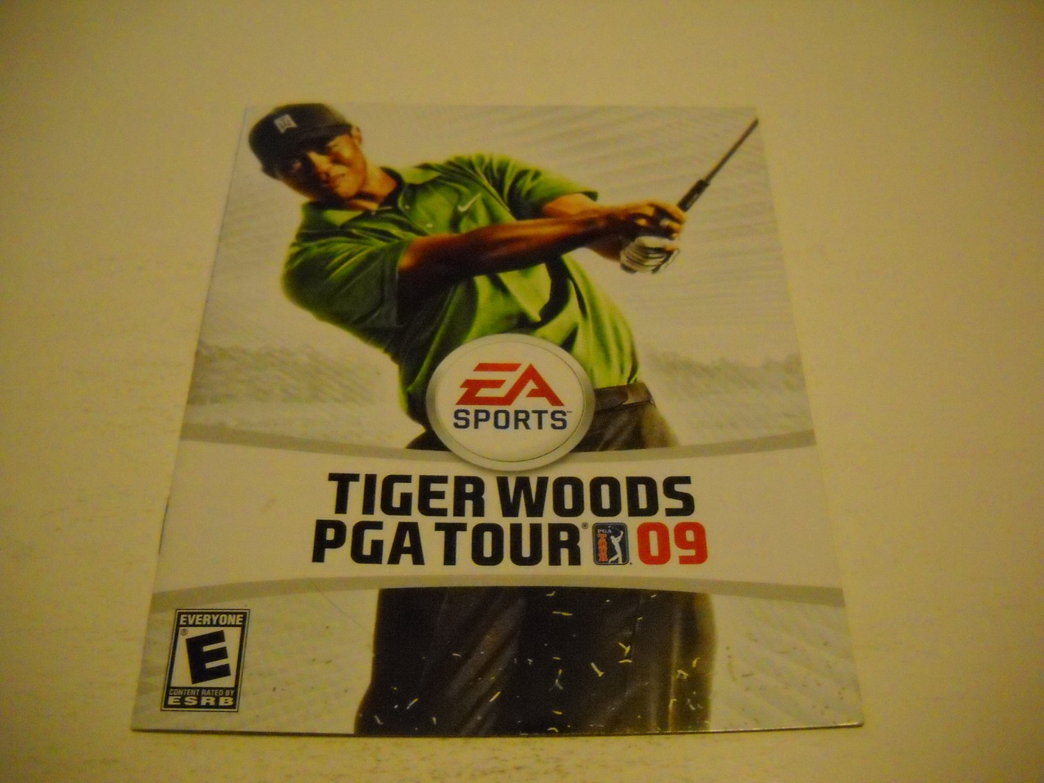 Manual ONLY ~  for Tiger Woods PGA Tour 09 , PS3