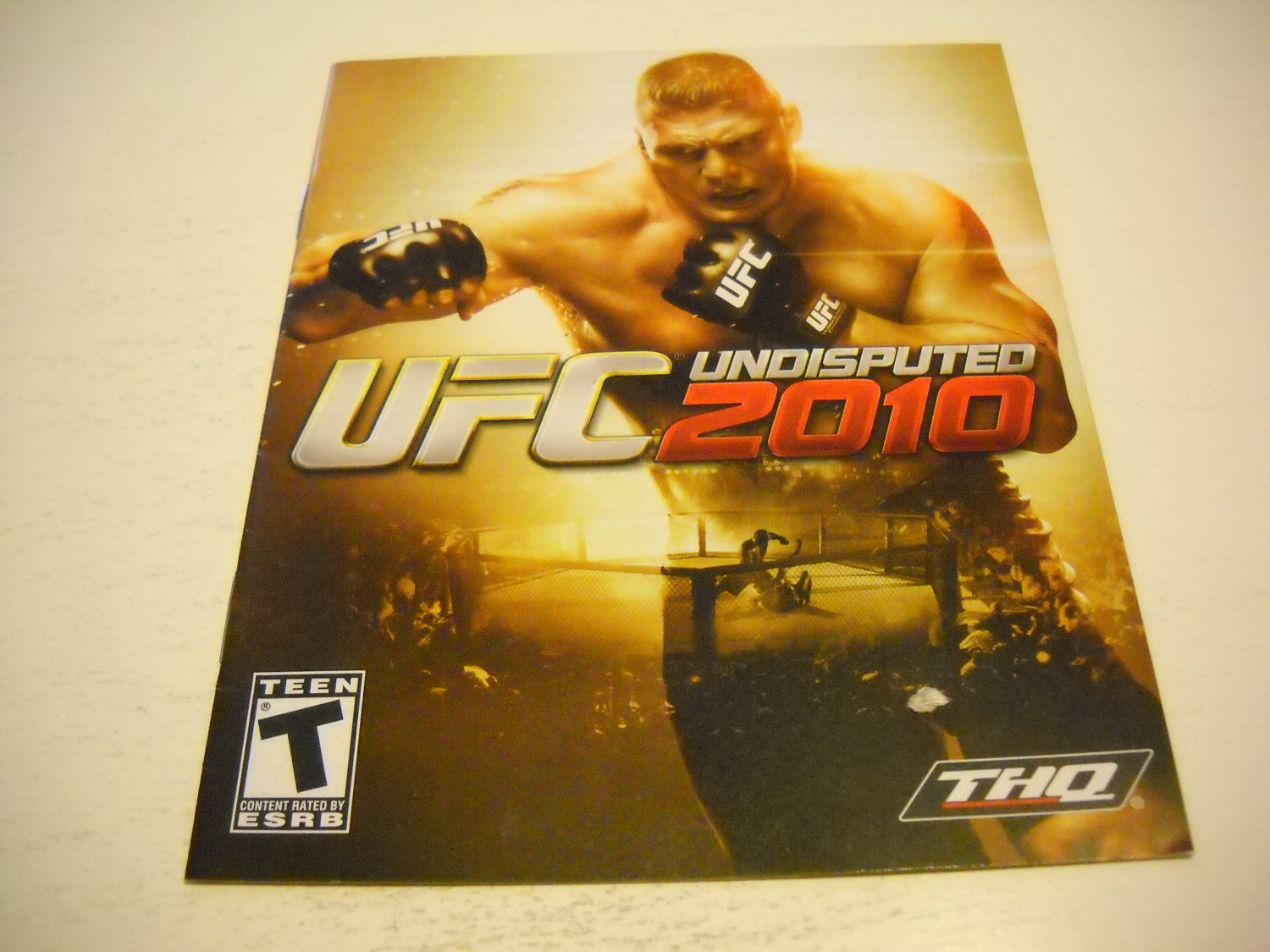 Manual ONLY ~  for UFC Undisputed 2010 , PS3