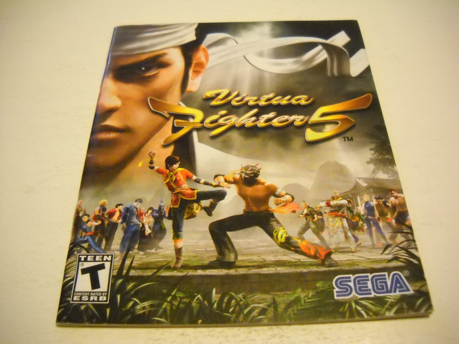 Manual ONLY ~  for Virtua Fighter 5 , PS3