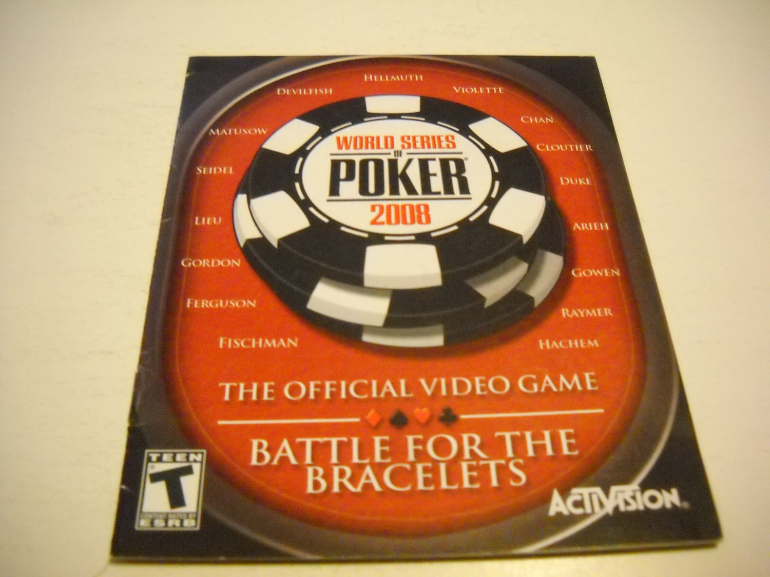 Manual ONLY ~  for World Series of Poker 2008 , PS3
