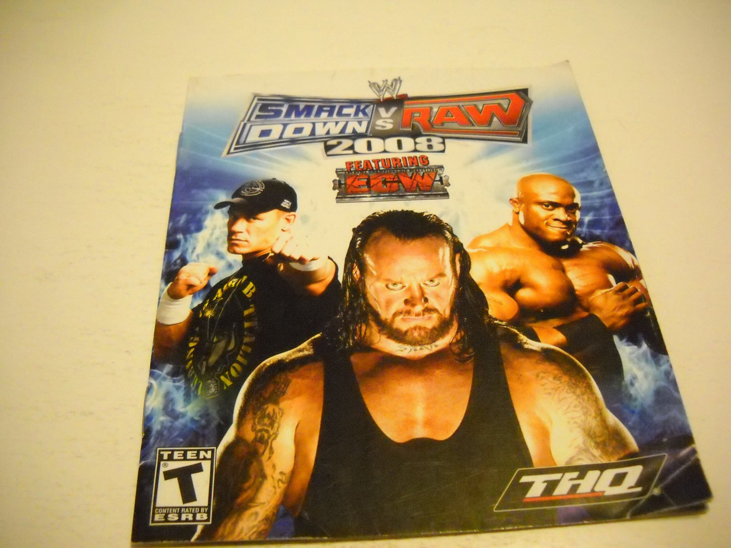 Manual ONLY ~  for WWE Smack Down vs. Raw 2008, PS3
