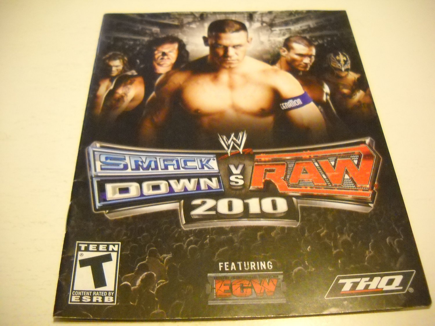 Manual ONLY ~  for WWE Smack Down vs. Raw 2010 , PS3