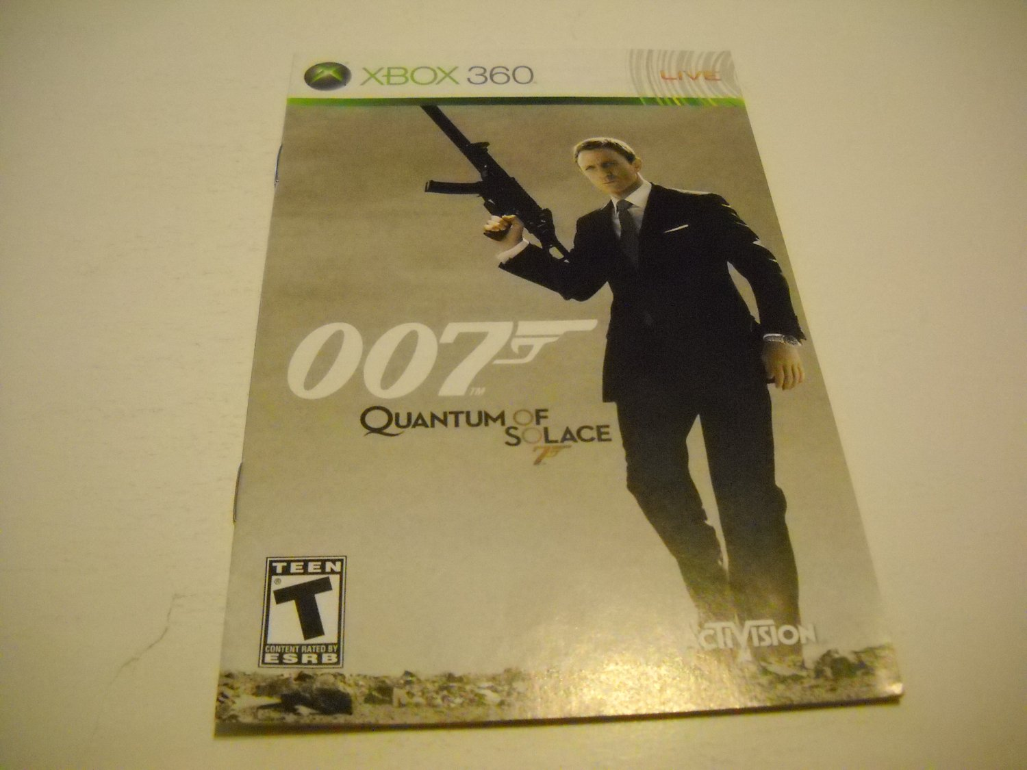 Manual ONLY ~  for 007 Quantum of Solace   - Xbox 360 Instruction Booklet