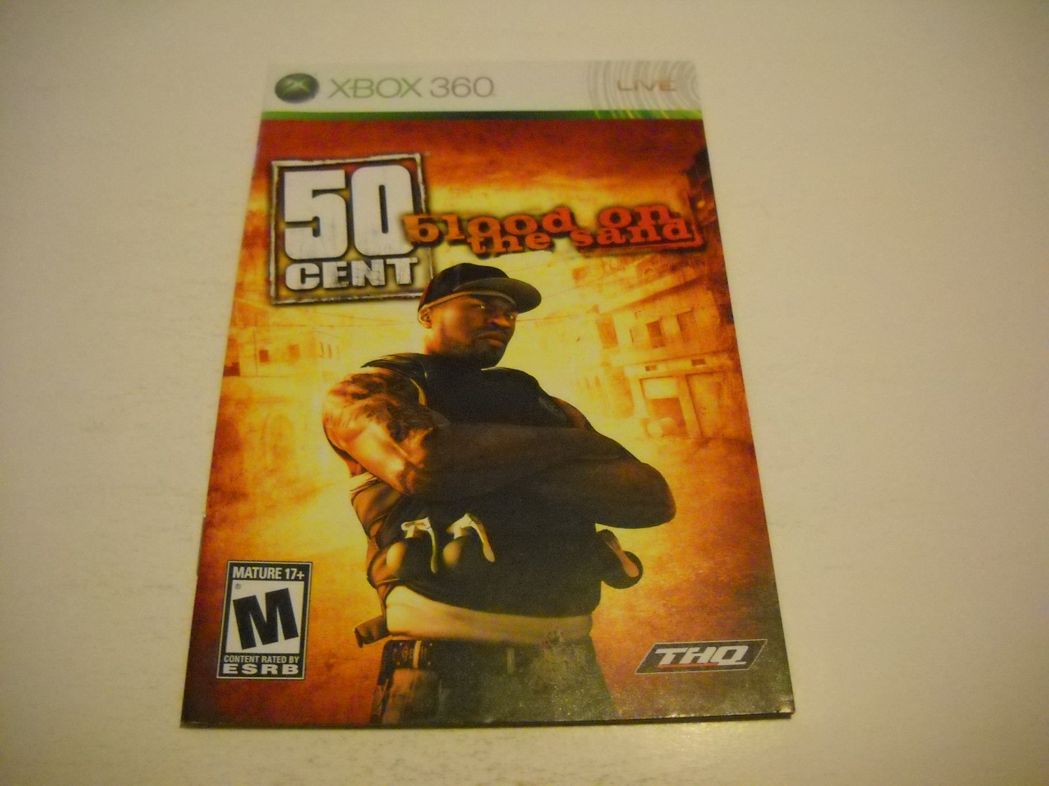 Manual ONLY ~  for 50 Cent Blood on the Sand   - Xbox 360 Instruction Booklet