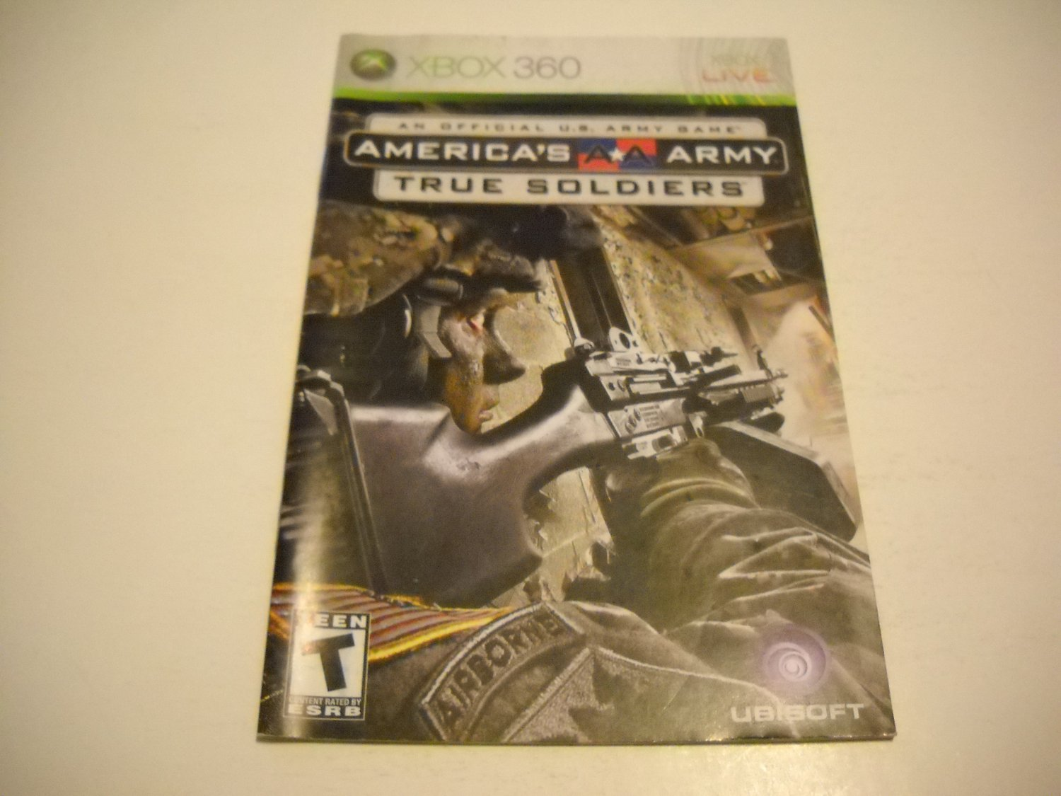 Manual ONLY ~  for America's Army True Soldiers   - Xbox 360 Instruction Booklet