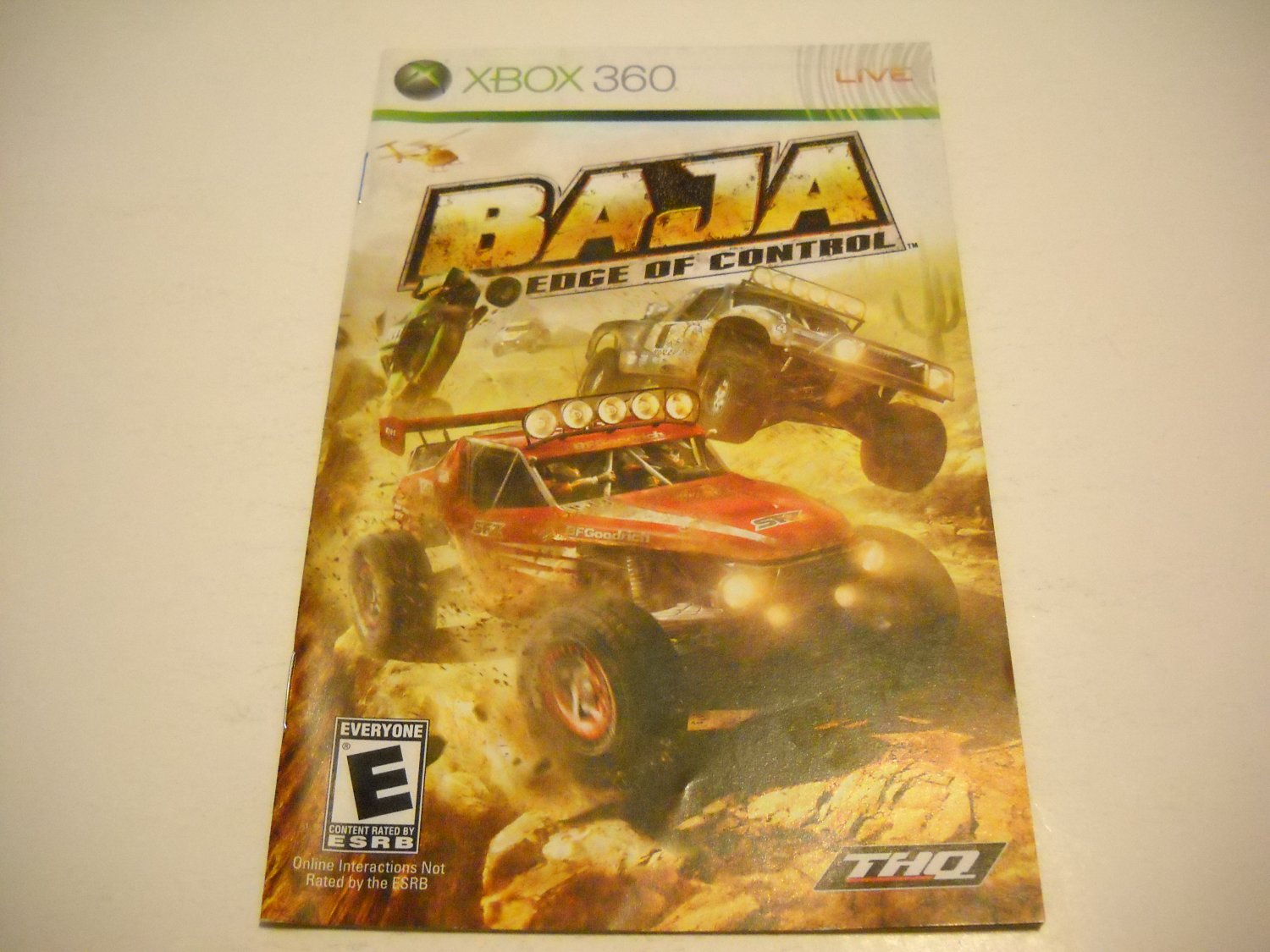 Manual ONLY ~  for Baja Edge of Control   - Xbox 360 Instruction Booklet