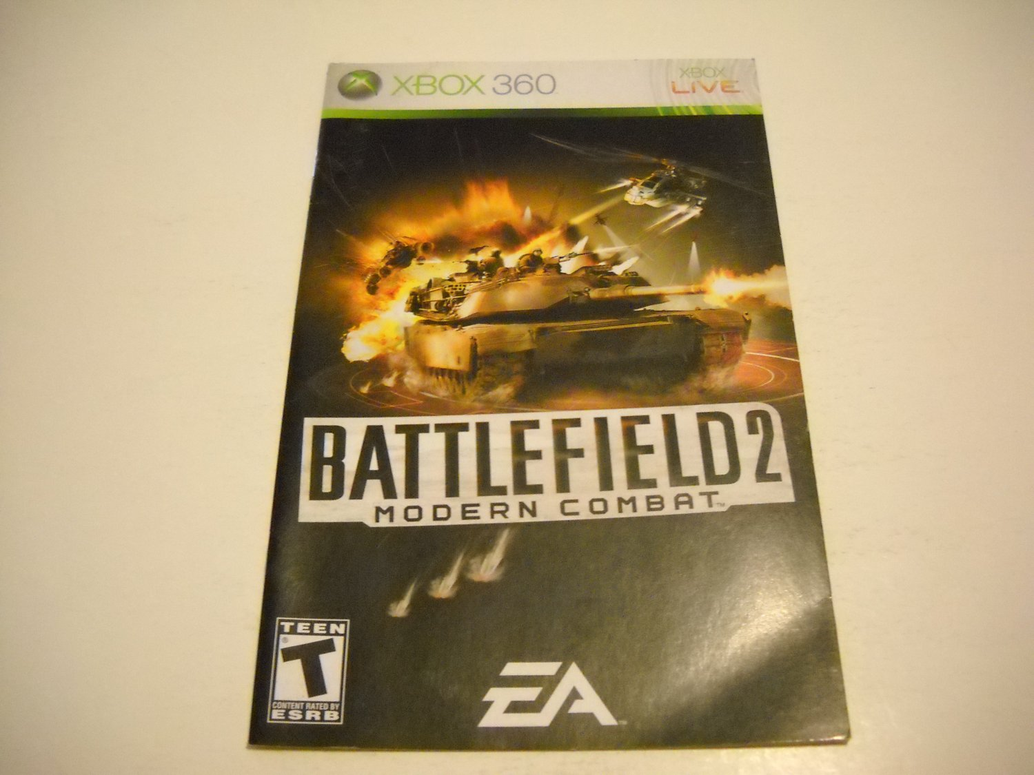 Manual ONLY ~  for Battlefield 2 Modern Combat   - Xbox 360 Instruction Booklet