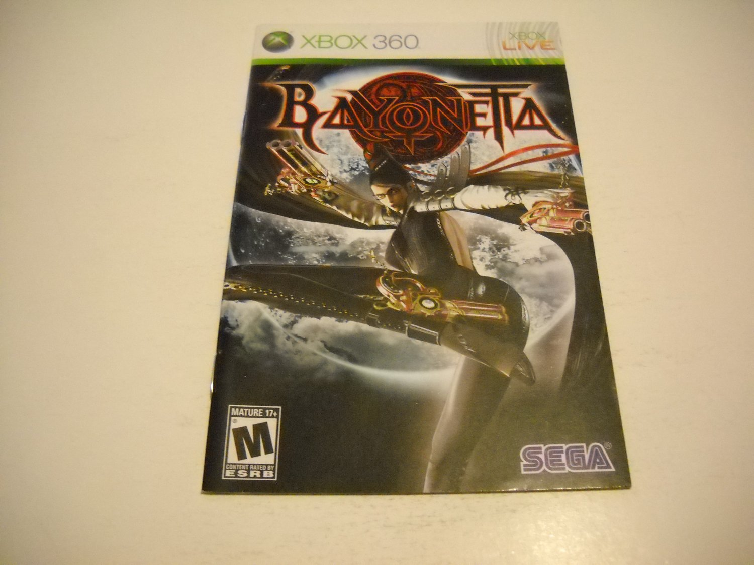 Manual ONLY ~  for Bayonetta   - Xbox 360 Instruction Booklet