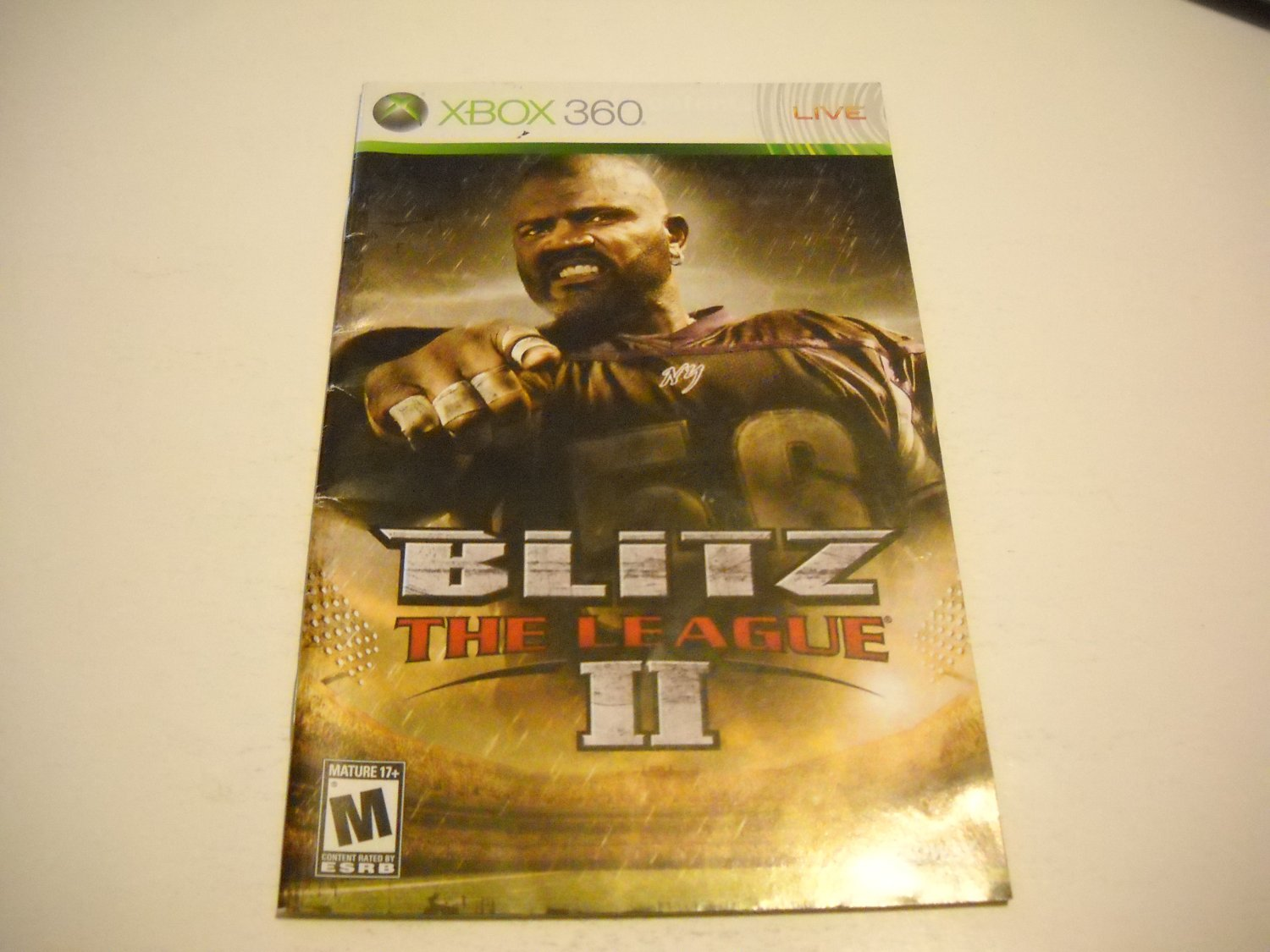 Manual ONLY ~  for Blitz the League II / 2   - Xbox 360 Instruction Booklet
