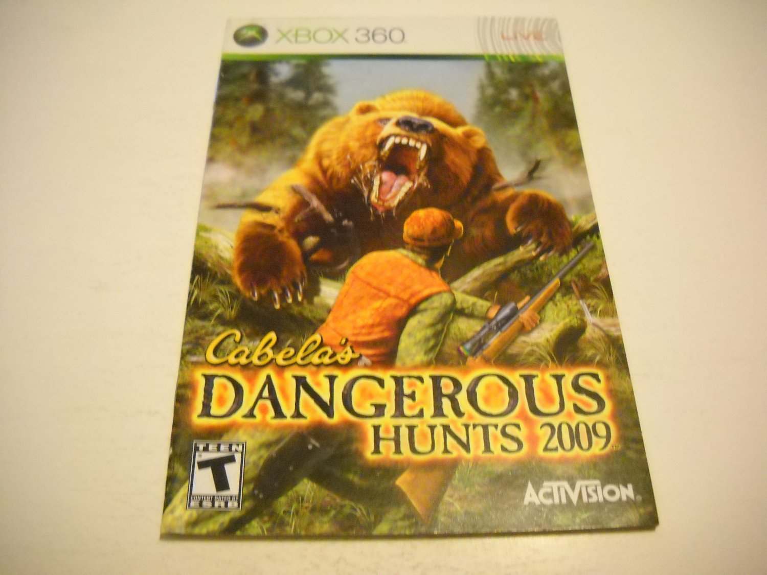 Manual ONLY ~  for Cabela's Dangerous Hunts 2009   - Xbox 360 Instruction Booklet