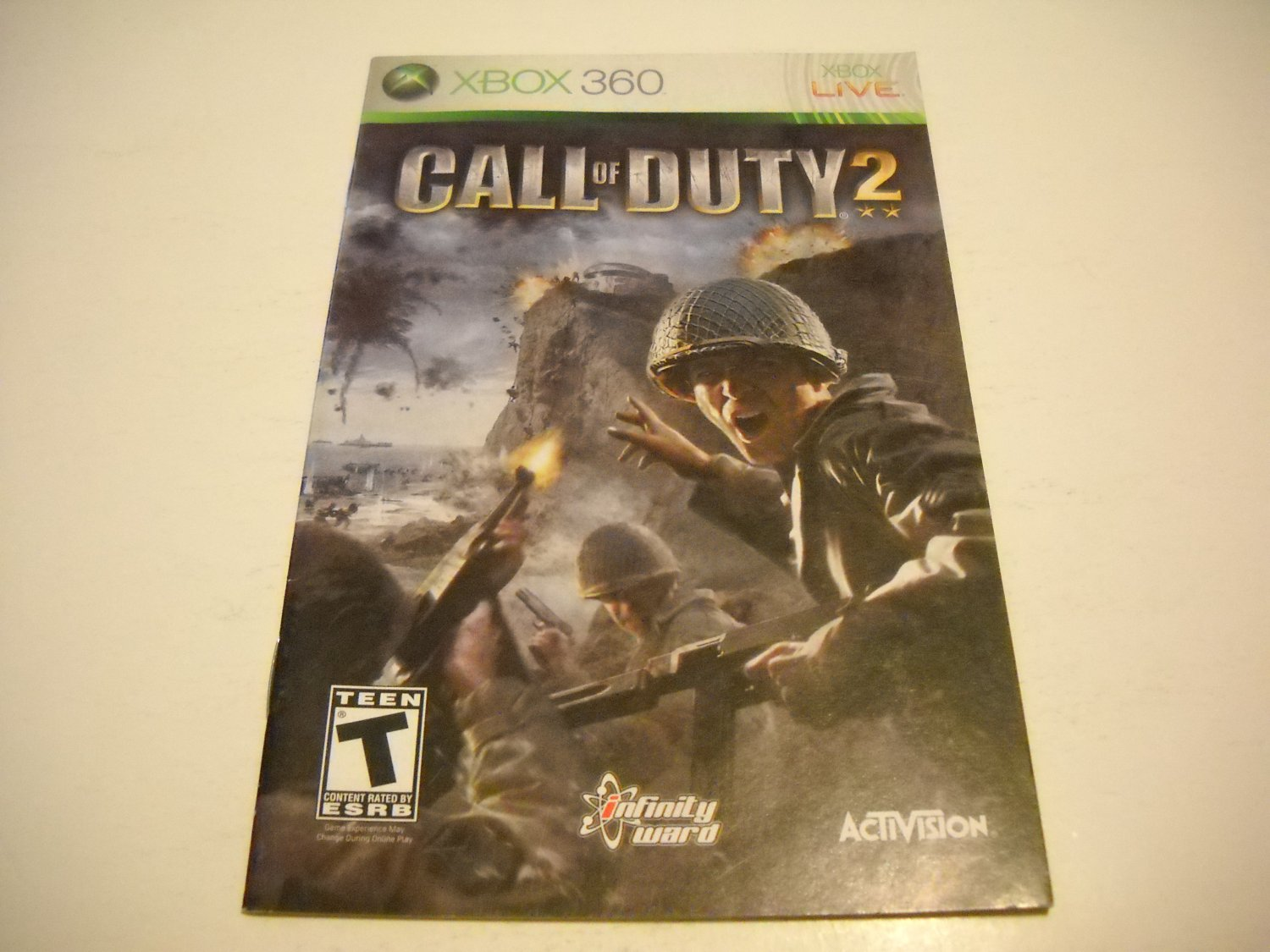 Manual ONLY ~  for Call of Duty 2   - Xbox 360 Instruction Booklet