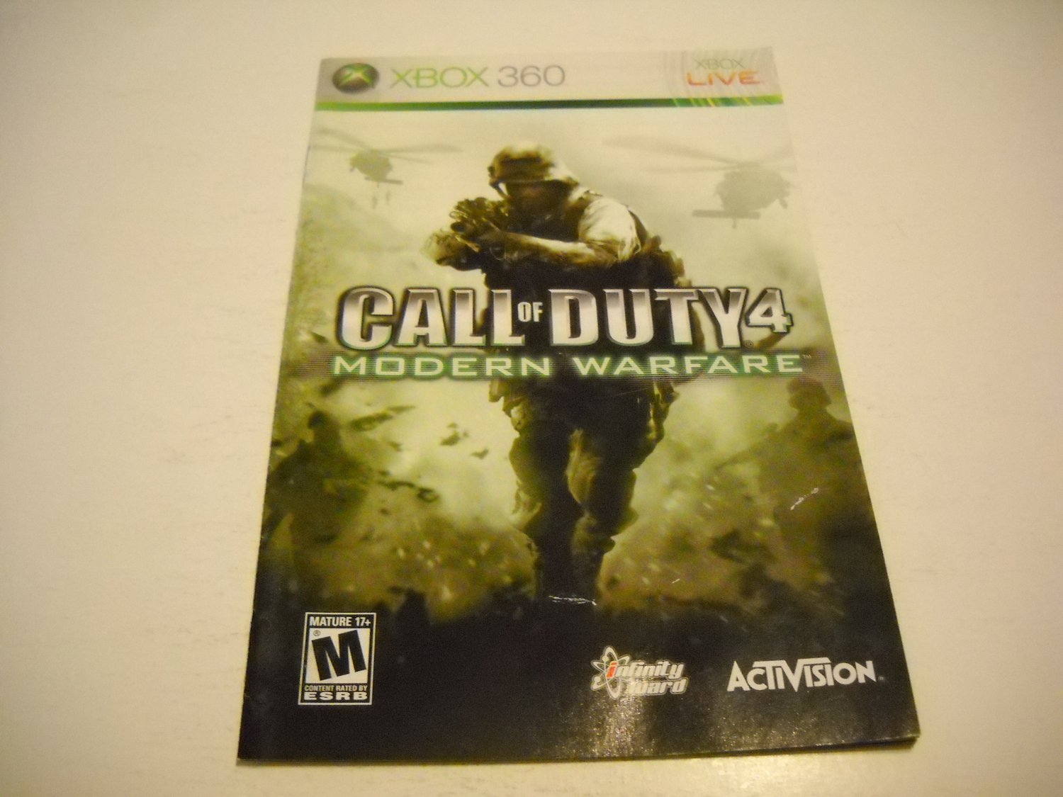 Manual ONLY ~  for Call of Duty 4 Modern Warfare   - Xbox 360 Instruction Booklet