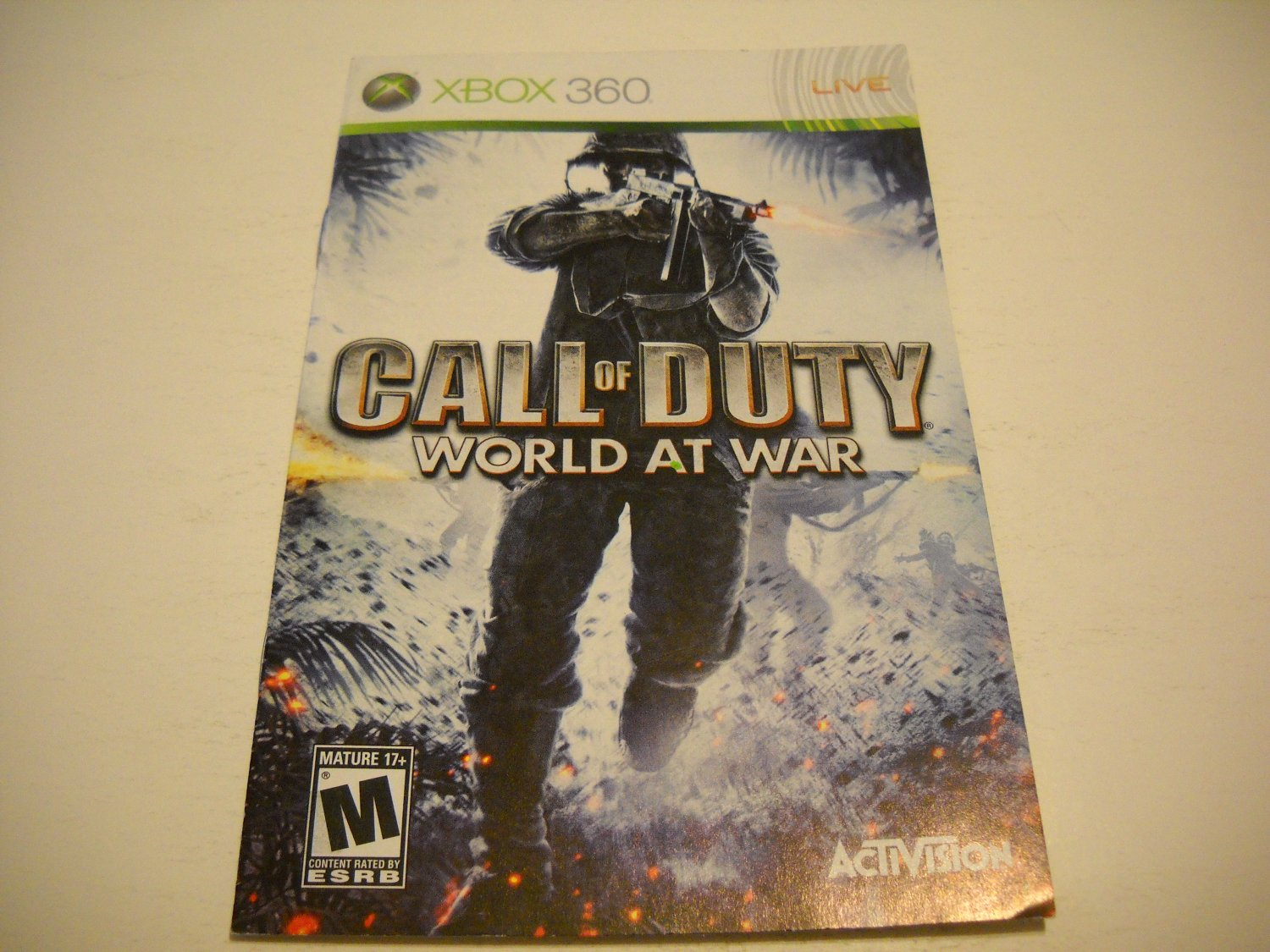 Manual ONLY ~  for Call of Duty World at War   - Xbox 360 Instruction Booklet