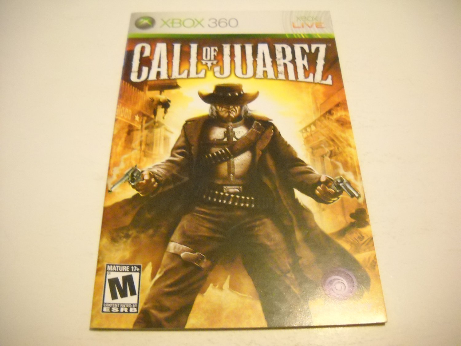 Manual ONLY ~  for Call of Juarez   - Xbox 360 Instruction Booklet