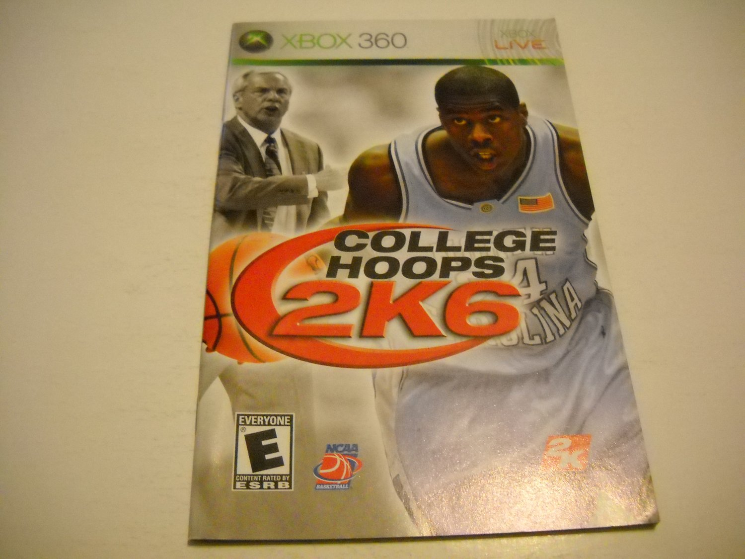 Manual ONLY ~  for College Hoops 2K6   - Xbox 360 Instruction Booklet