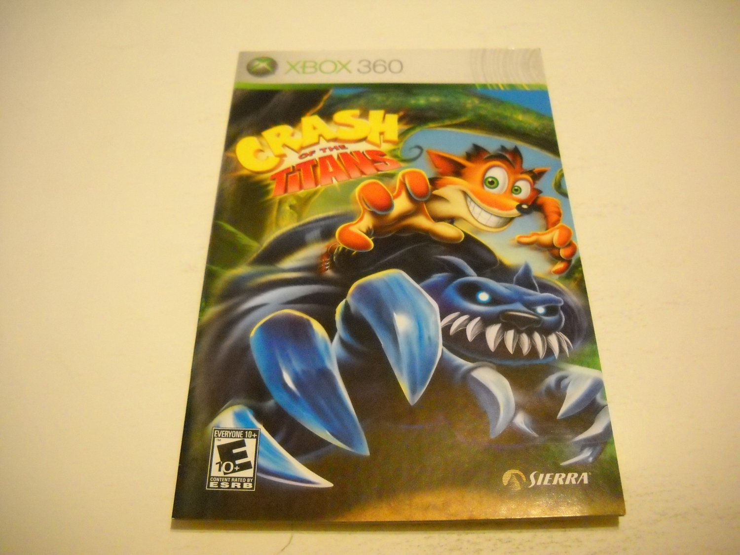 Manual ONLY ~  for Crash of the Titans   - Xbox 360 Instruction Booklet