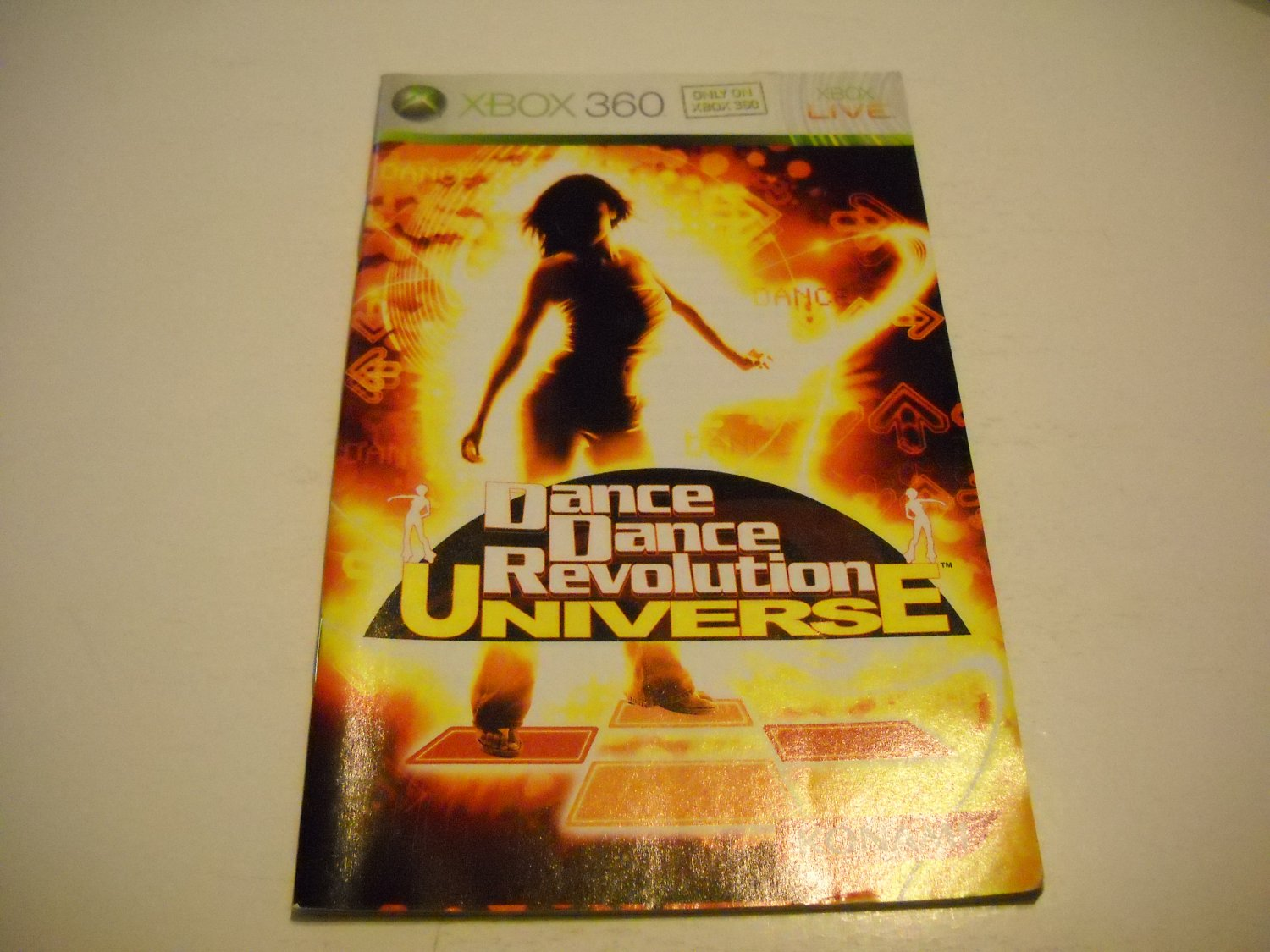 Manual ONLY ~  for Dance Dance Revolution Universe   - Xbox 360 Instruction Booklet