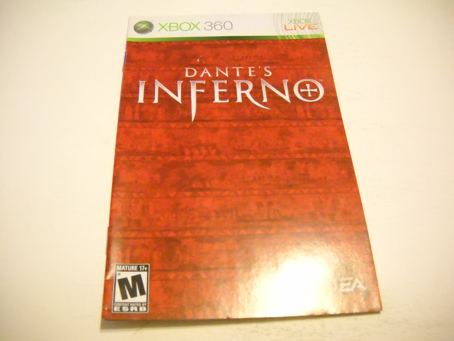 Manual ONLY ~  for Dante's Inferno   - Xbox 360 Instruction Booklet