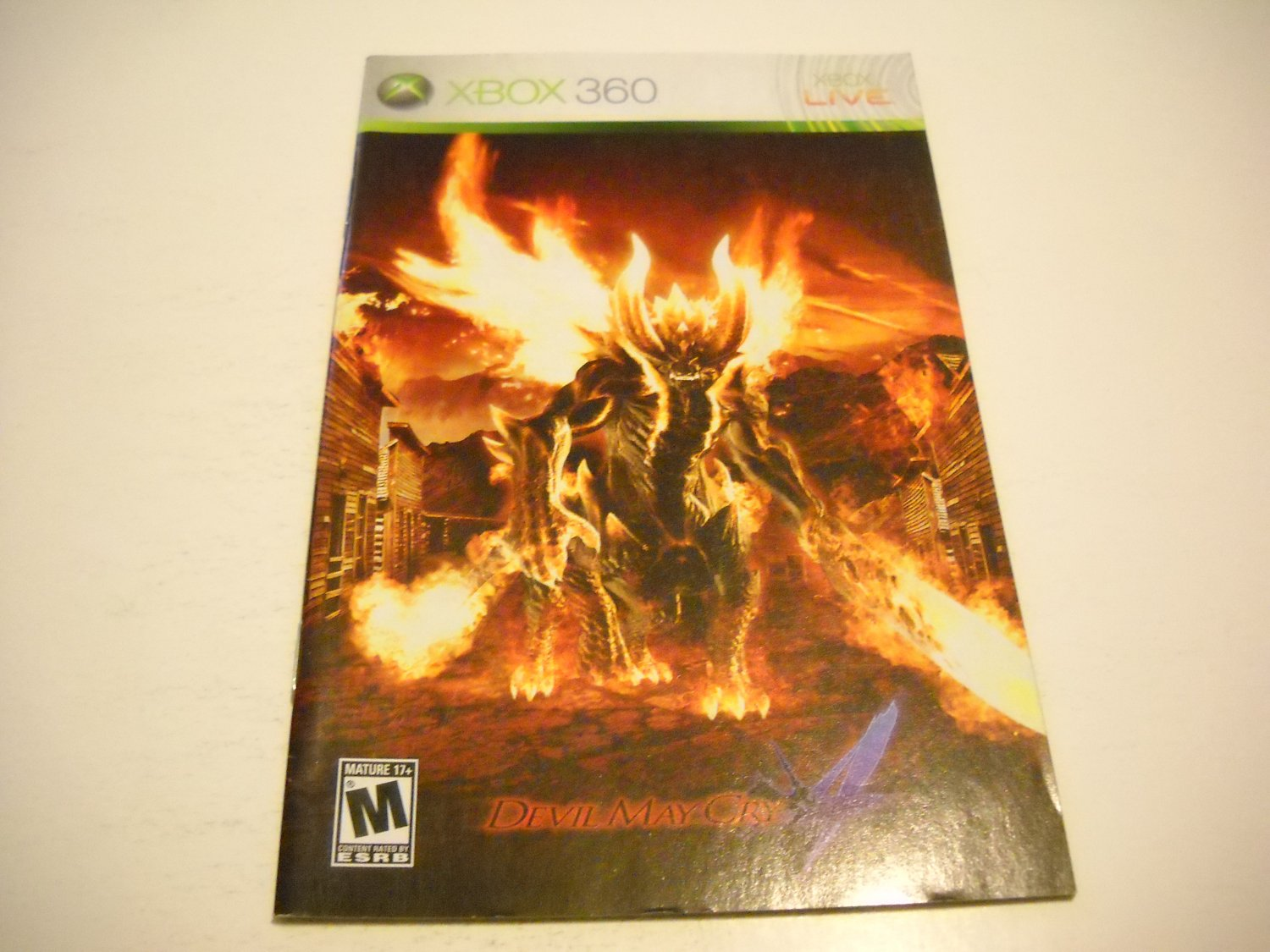 Manual ONLY ~  for Devil May Cry 4   - Xbox 360 Instruction Booklet
