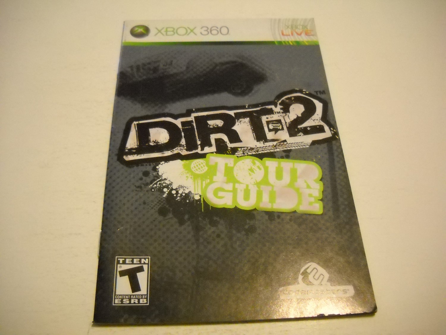 Manual ONLY ~  for Dirt 2 Tour Guide   - Xbox 360 Instruction Booklet