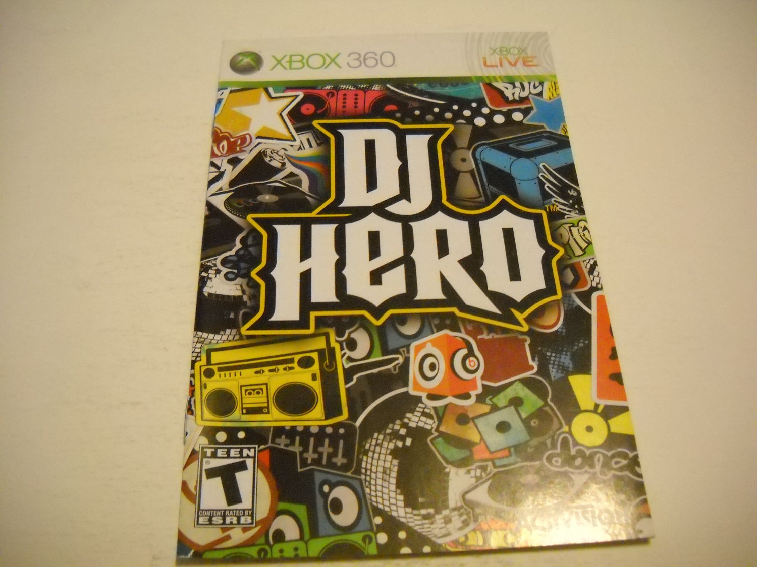 Manual ONLY ~  for DJ Hero   - Xbox 360 Instruction Booklet