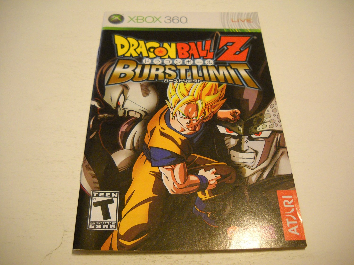 Manual ONLY ~  for Dragonball Z Burstlimit   - Xbox 360 Instruction Booklet