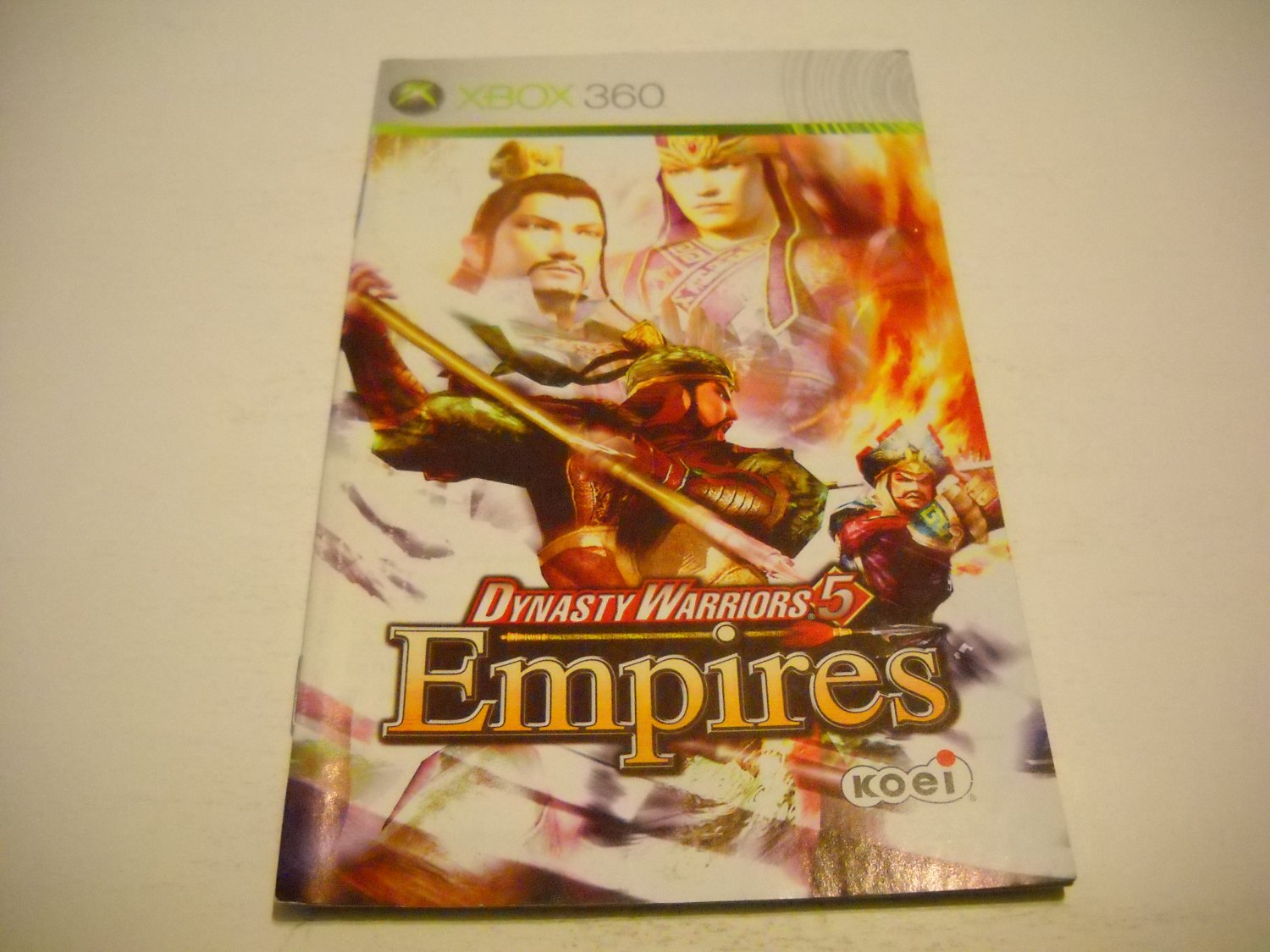 Manual ONLY ~  for Dynasty Warriors 5 Empires   - Xbox 360 Instruction Booklet