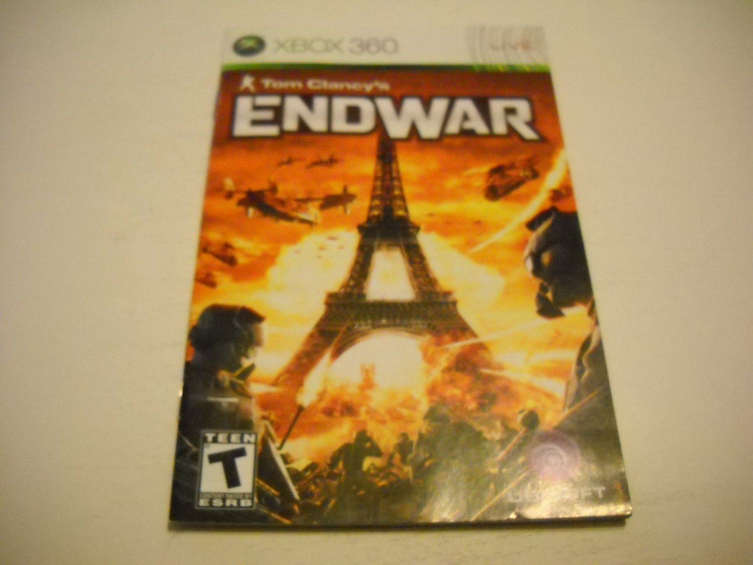 Manual ONLY ~  for Tom Clancy's Endwar   - Xbox 360 Instruction Booklet