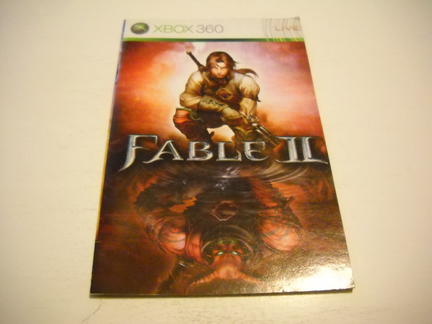 Manual ONLY ~  for Fable 2 / II   - Xbox 360 Instruction Booklet