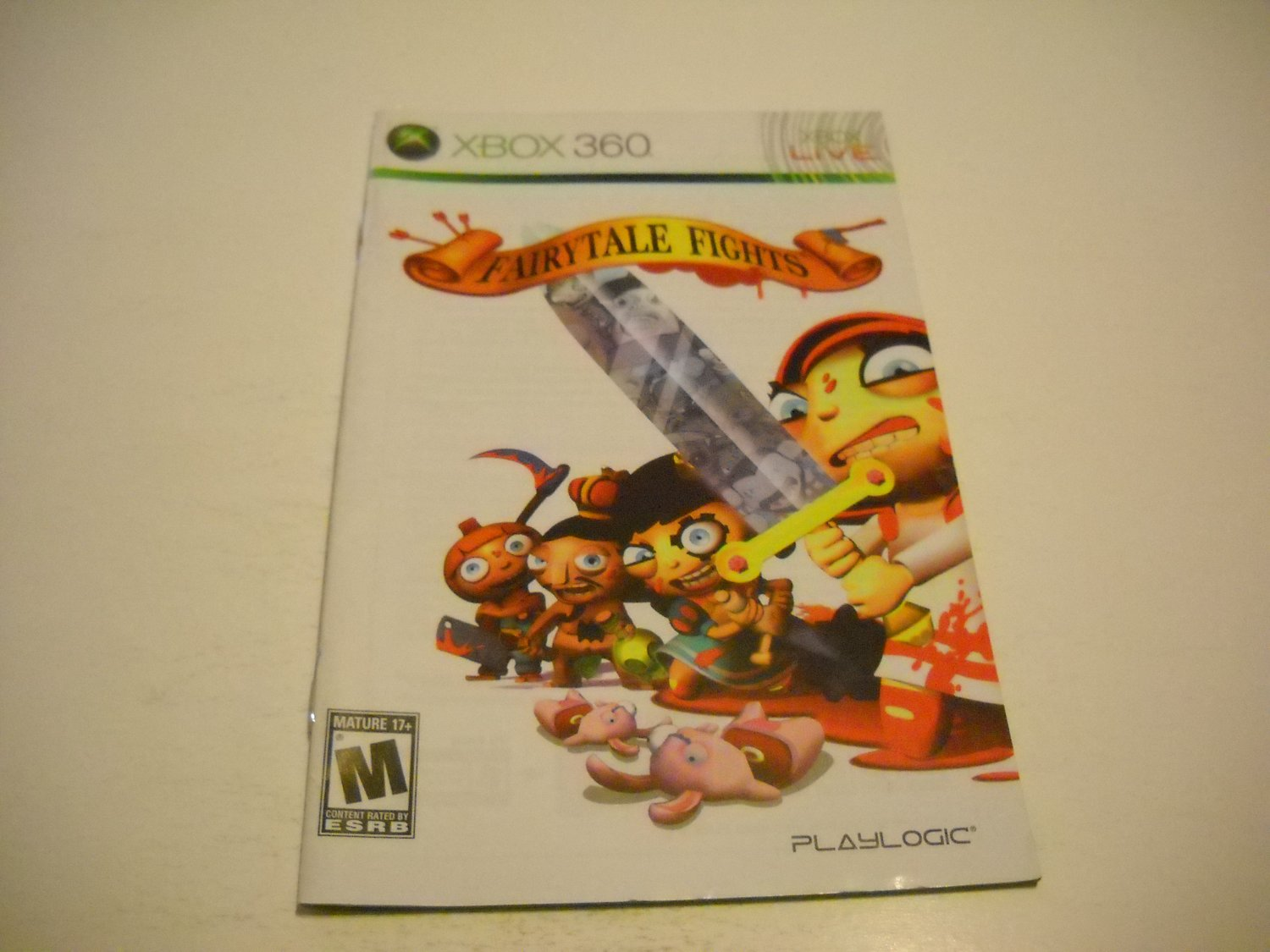 Manual ONLY ~  for Fairytale Fights   - Xbox 360 Instruction Booklet