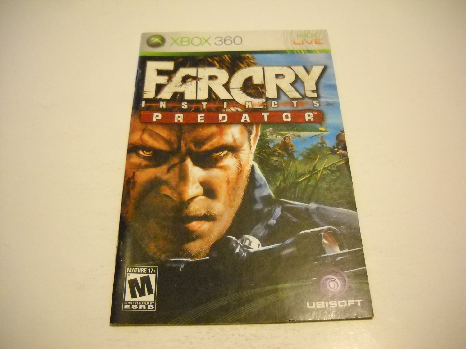 Manual ONLY ~  for Farcry Instincts Predator   - Xbox 360 Instruction Booklet
