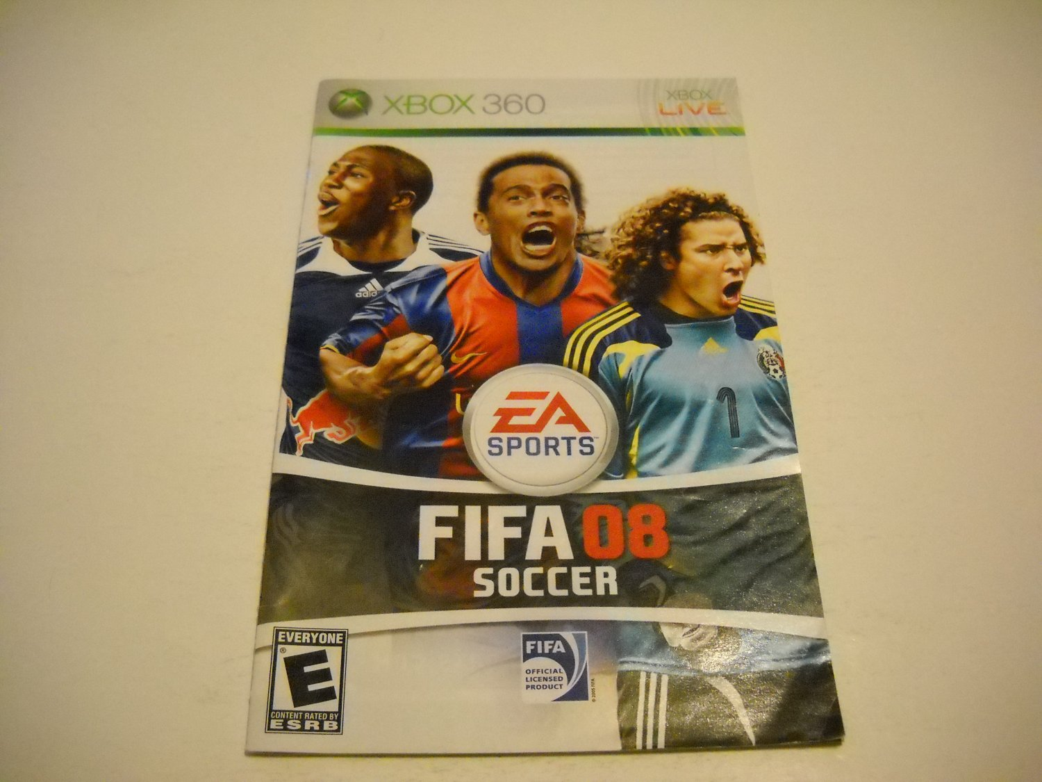 Manual ONLY ~  for FIFA Soccer 08   - Xbox 360 Instruction Booklet