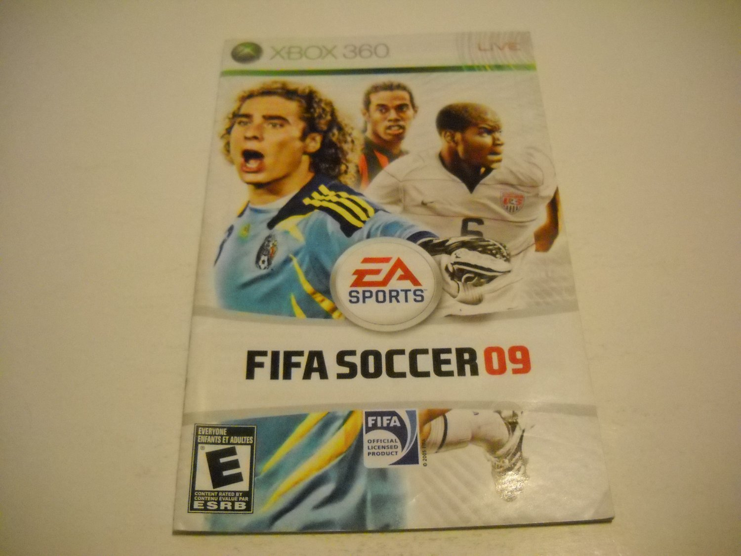 Manual ONLY ~  for FIFA Soccer 09   - Xbox 360 Instruction Booklet